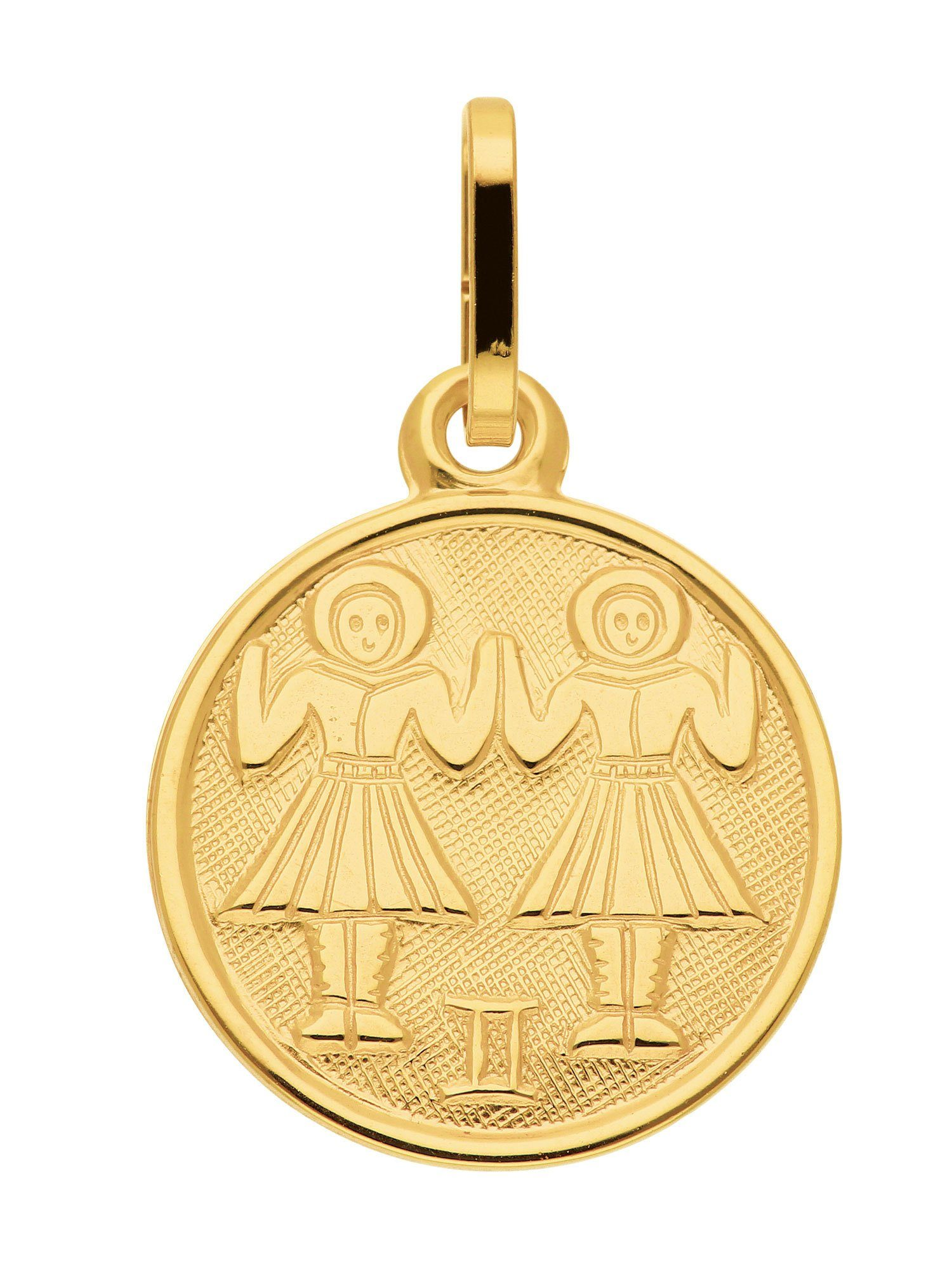 Adelia´s Kettenanhänger »Sternzeichen Gold Anhänger« Zwilling 8 k 333 Gelbgold Ø 1.18 cm