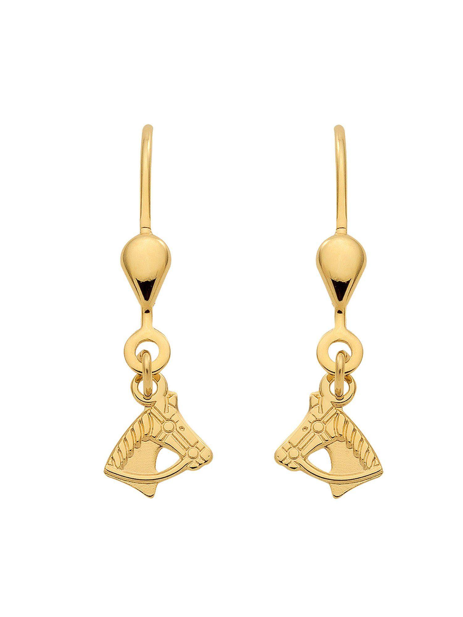 Adelia´s Paar Ohrhänger »Gold Ohrringe« Pferdekopf 8 k 333 Gelbgold