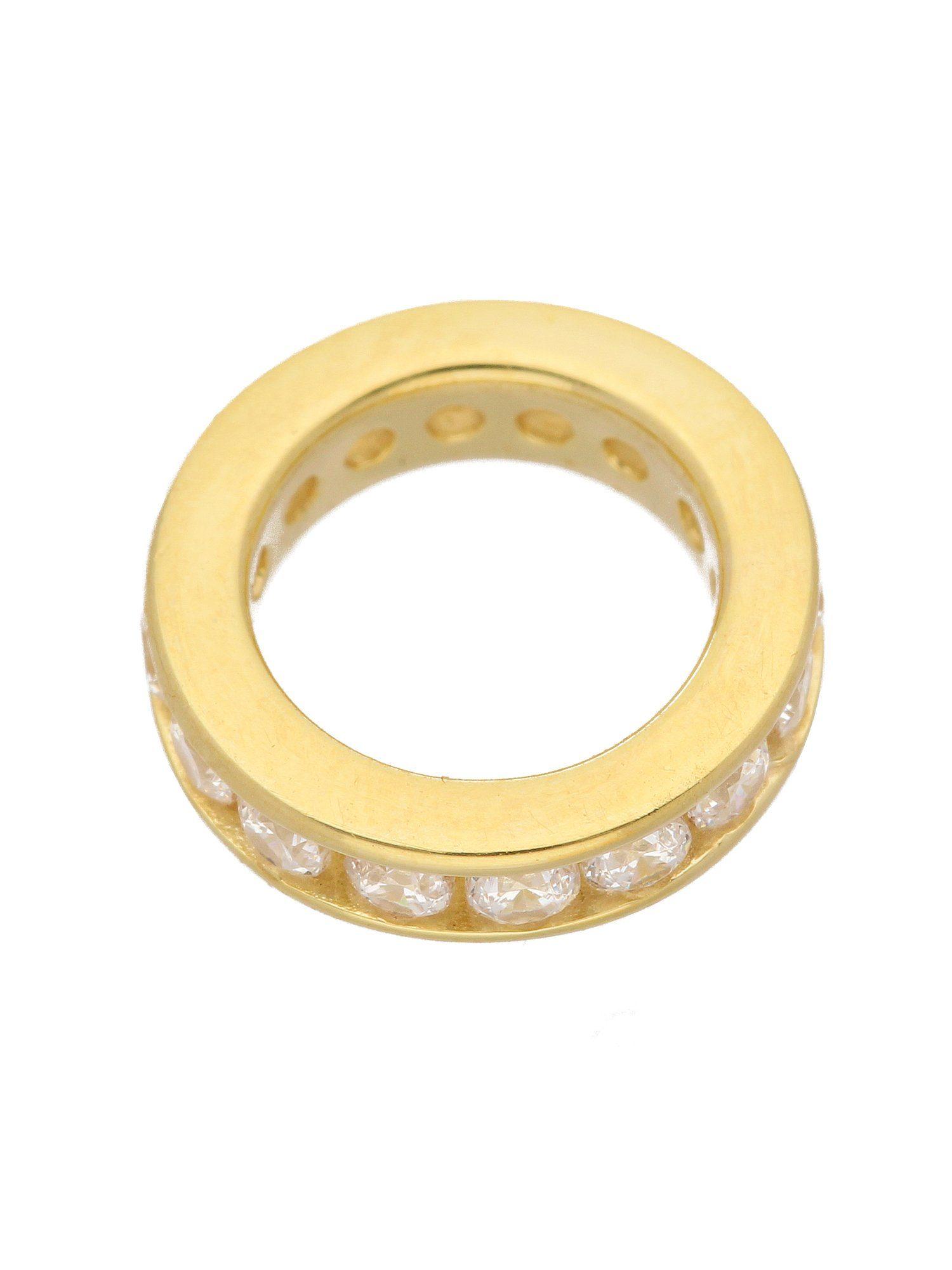 Adelia´s Kettenanhänger »Gold 14 k (585) Motiv - Anhänger« Taufring 14 k 585 Gelbgold mit Zirkonia Ø 1.24 cm