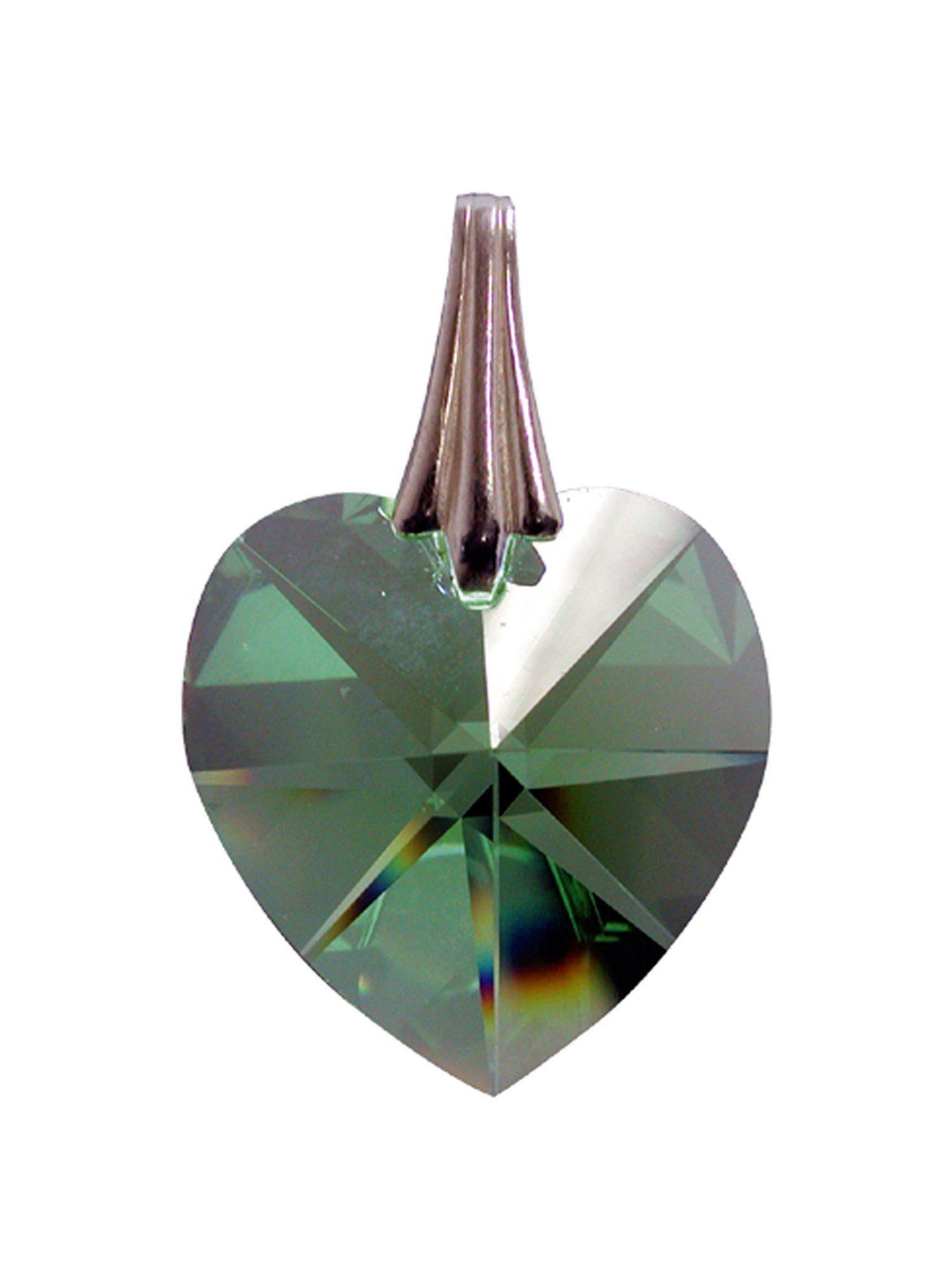 Adelia´s Amulett Kristallherz Grün