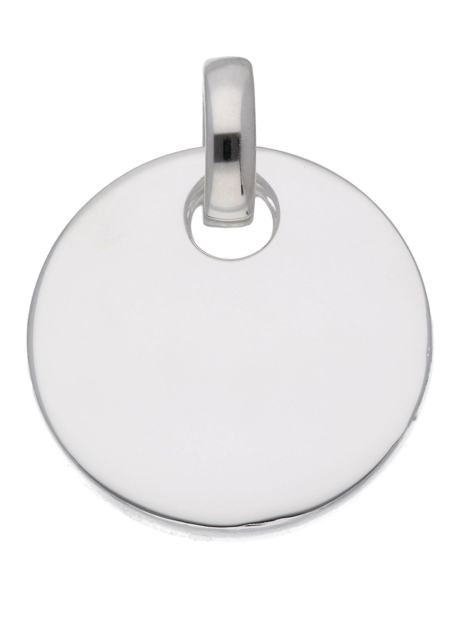 Adelia´s Kettenanhänger »Silber Gravurplatte« 925 Sterling Silber Ø 1.98 cm