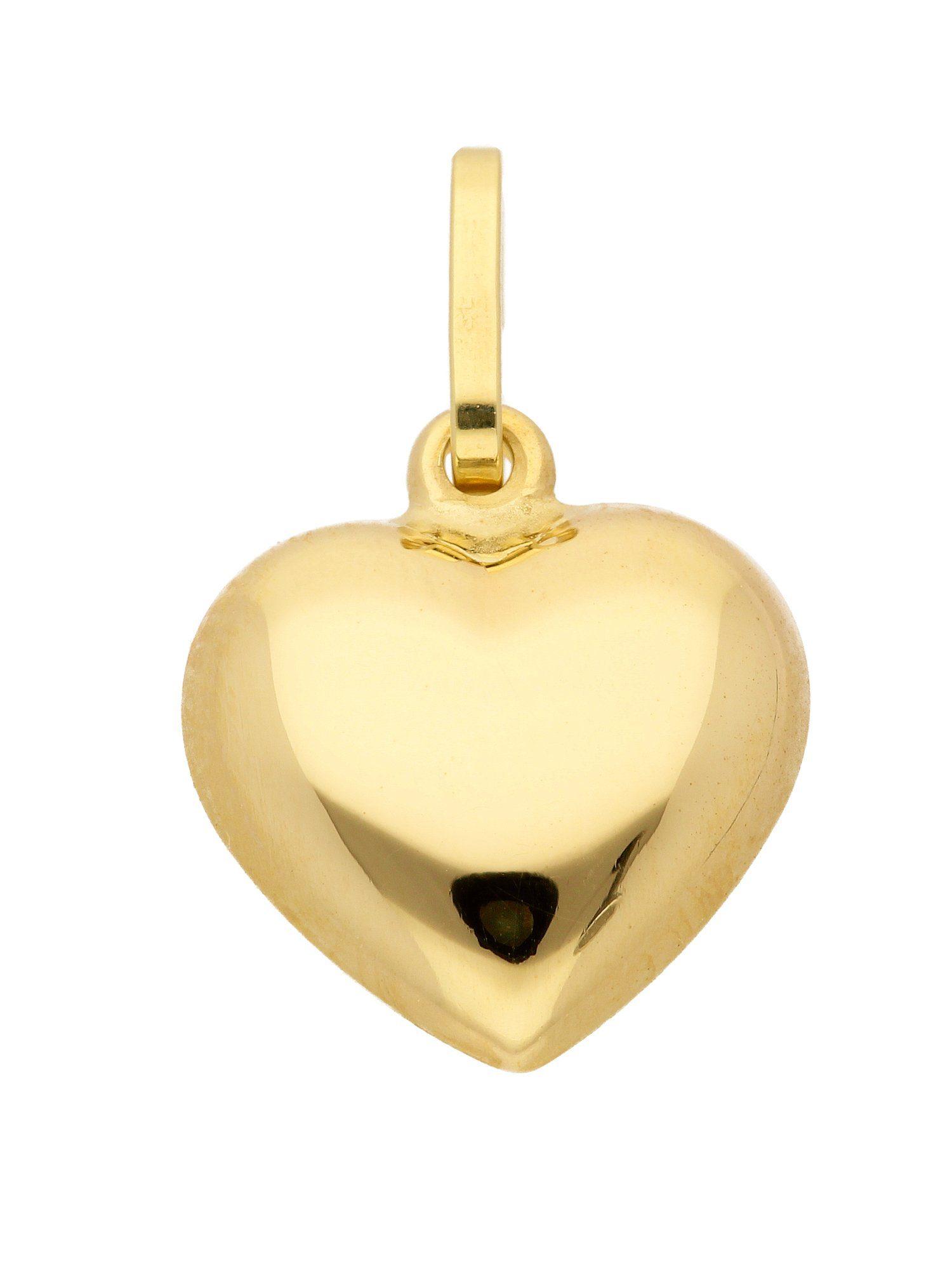 Adelia´s Kettenanhänger »Gold Anhänger« Herz 14 k 585 Gelbgold