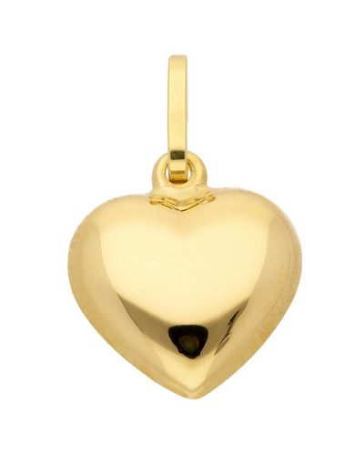 Adelia´s Kettenanhänger »Gold 14 k (585) Motiv - Anhänger«, Herz 14 k 585 Gelbgold