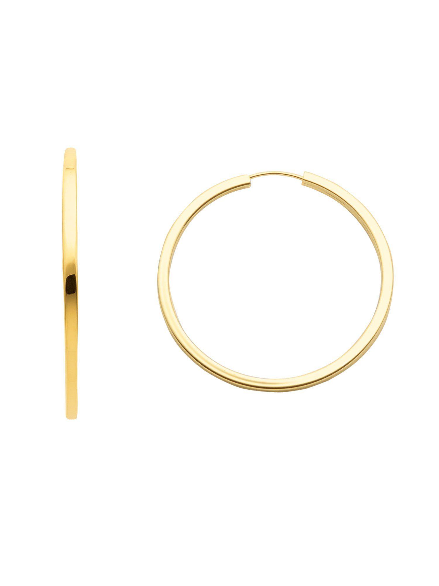 Adelia´s Paar Creolen »Gold Ohrringe« 8 k 333 Gelbgold Ø 3.8 cm
