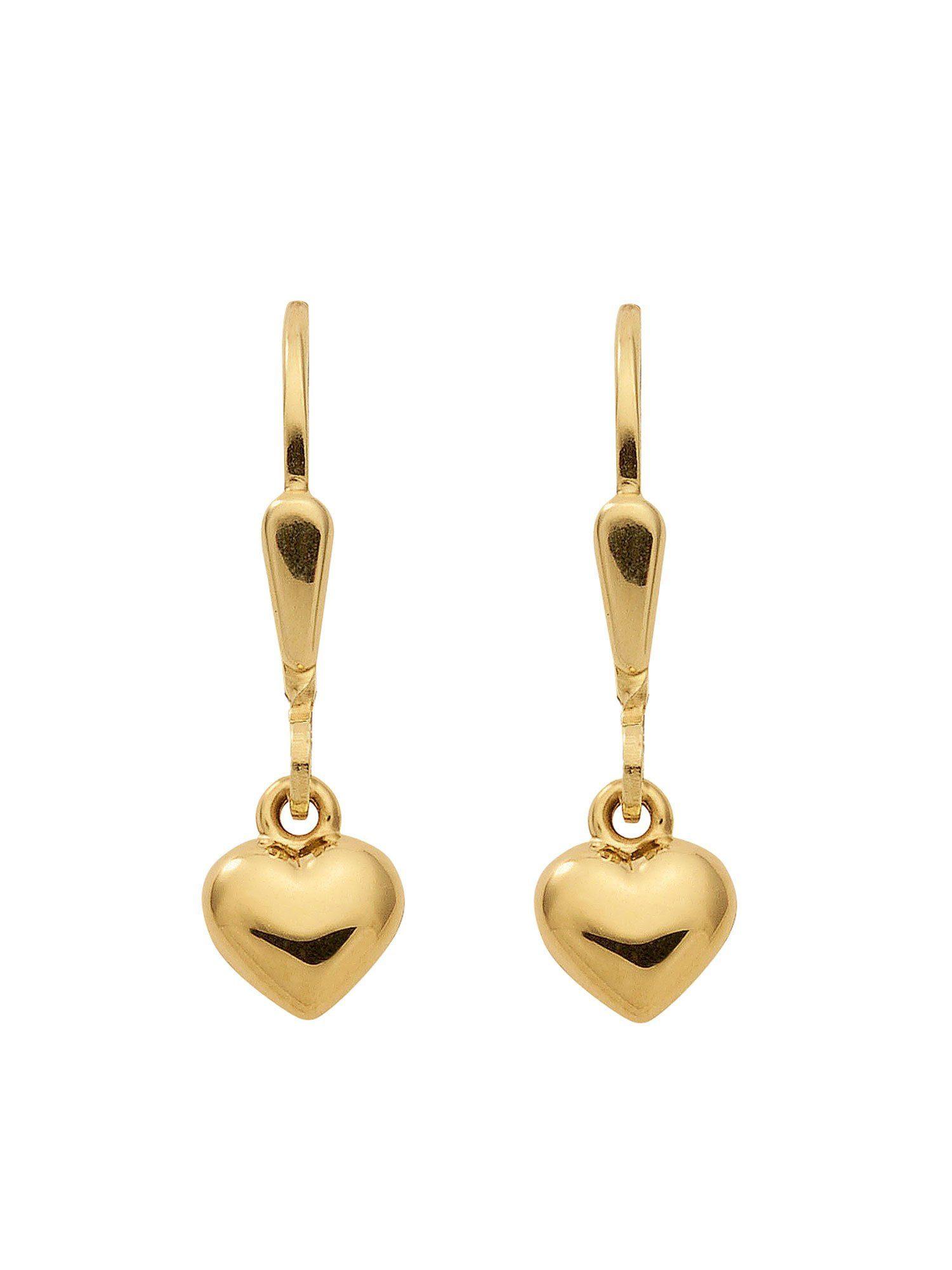 Adelia´s Paar Ohrhänger »Gold Ohrringe« Herz 8 k 333 Gelbgold