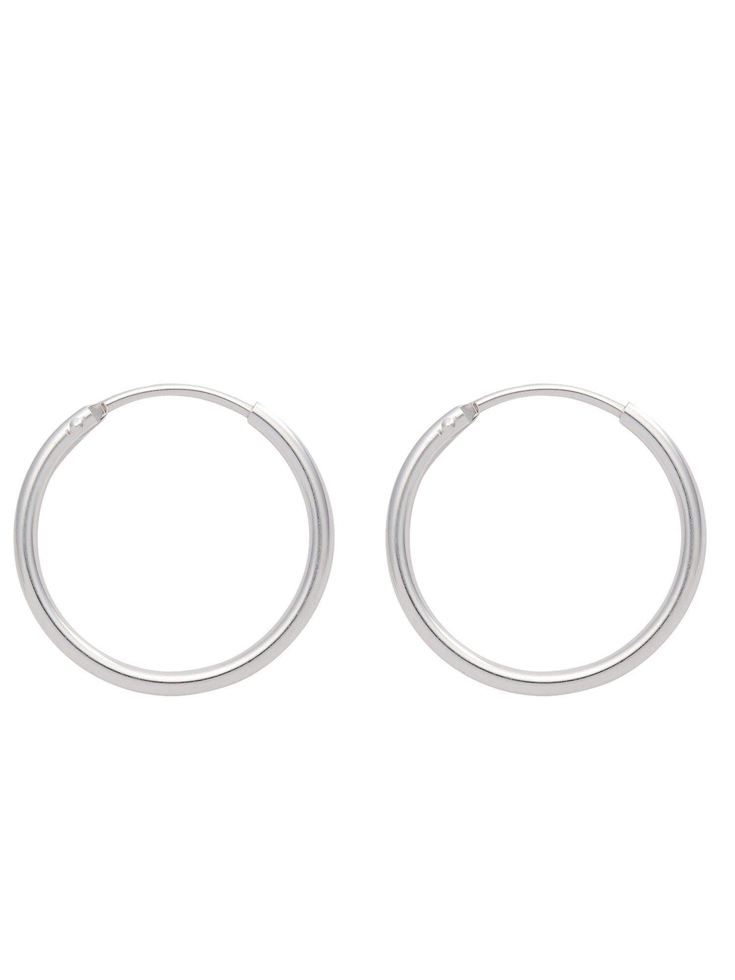 Adelia´s Paar Creolen »Silber 925 Sterling Silver Ohrringe - Creolen« 925 Sterling Silber Ø 1.1 cm