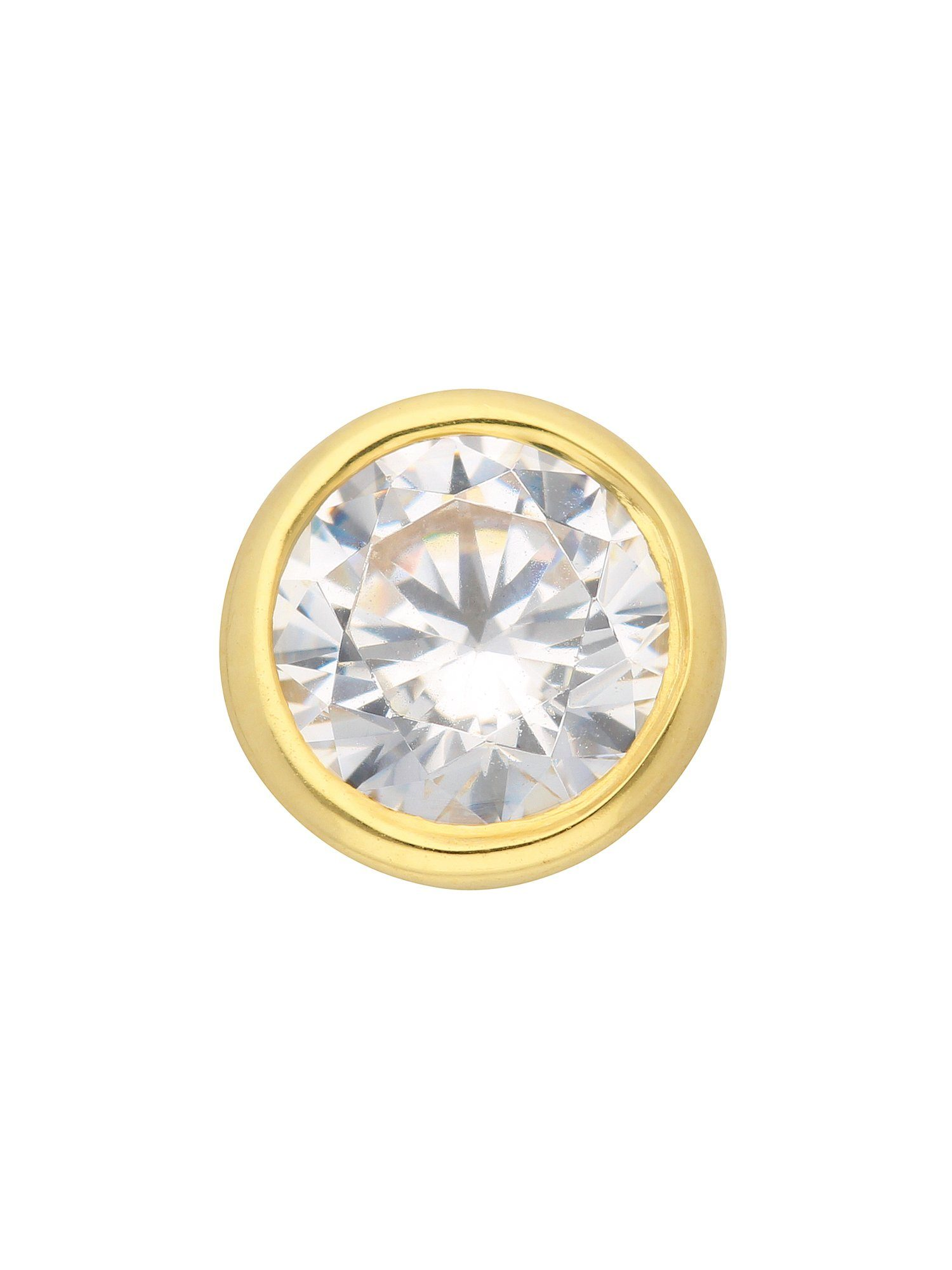 Adelia´s Kettenanhänger »Gold 8 k (333) Anhänger« 8 k 333 Gelbgold mit Zirkonia Ø 7 mm
