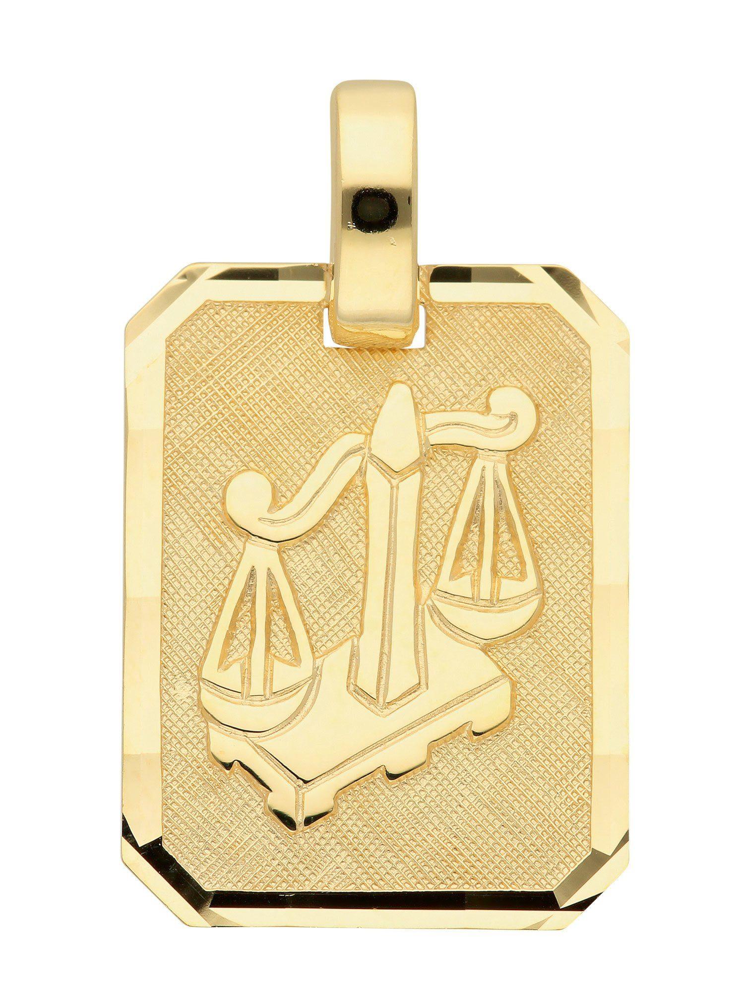 Adelia´s Kettenanhänger »Sternzeichen Gold Anhänger« Waage 8 k 333 Gelbgold