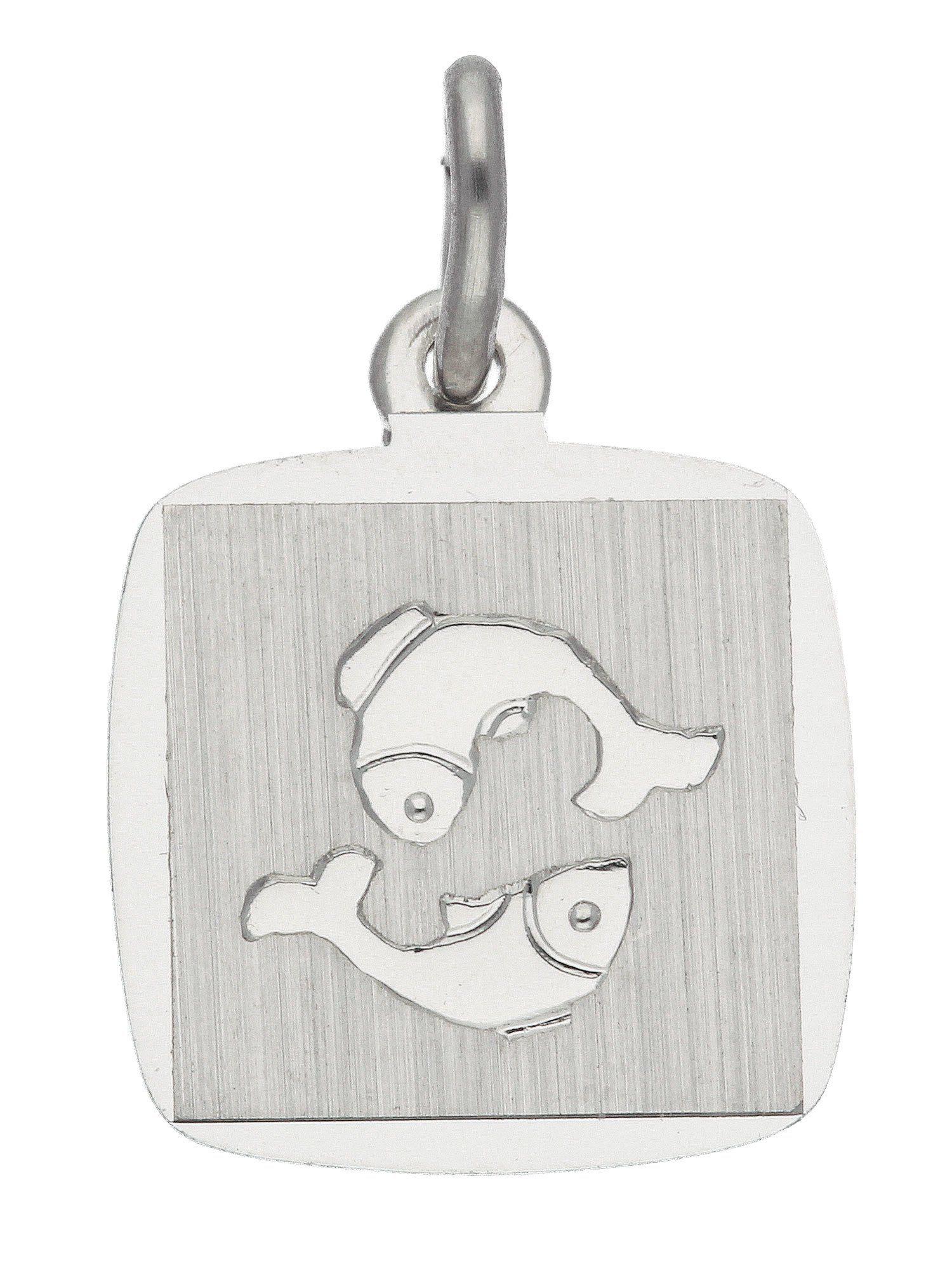 Adelia´s Kettenanhänger »Sternzeichen Silber Anhänger« Fisch 925 Sterling Silber