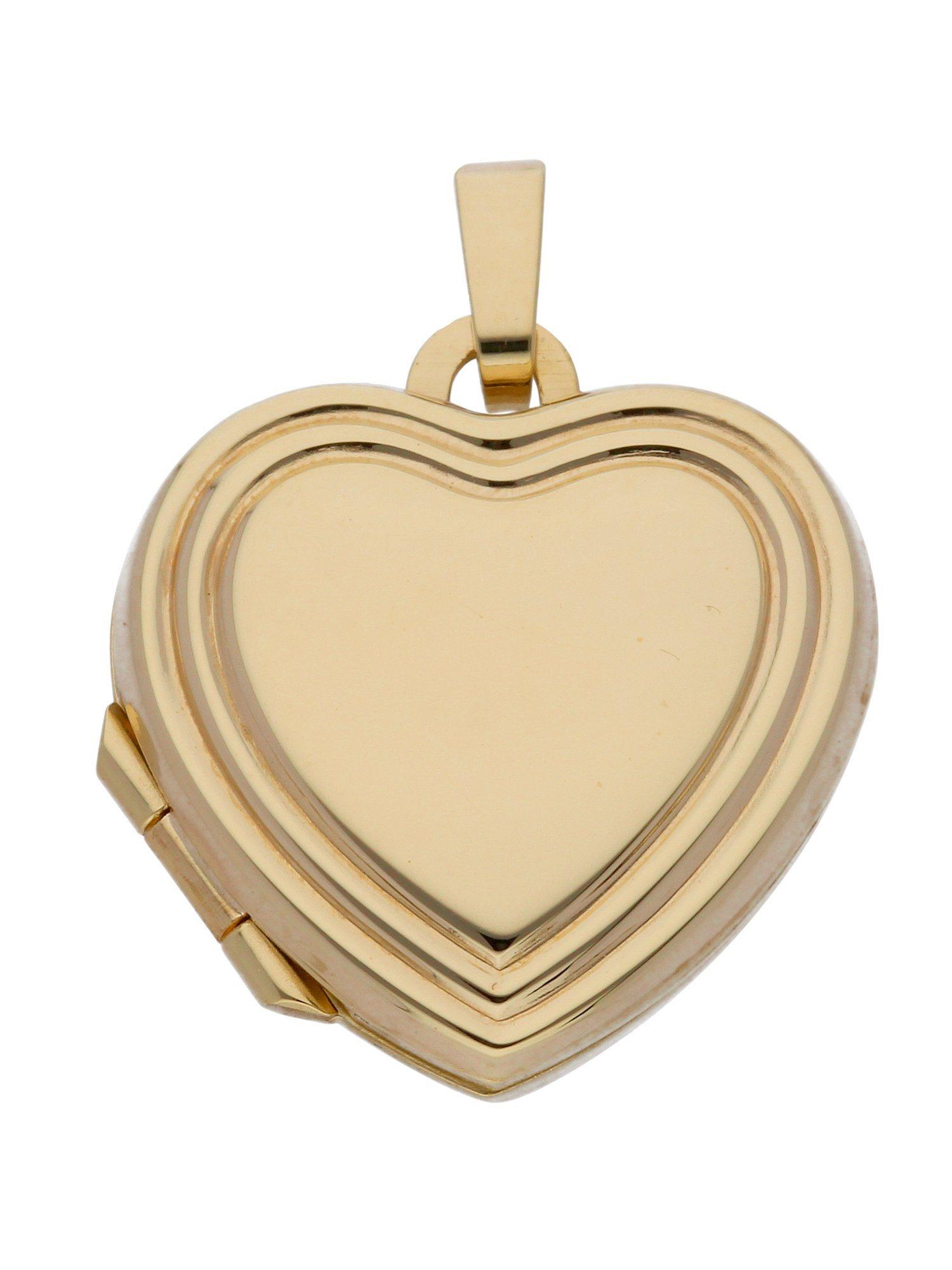 Adelia´s Kettenanhänger »Medaillon Gold Anhänger« 8 k 333 Gelbgold   Schmuck > Halsketten > Ketten ohne Anhänger   Goldfarben   Adelia´s