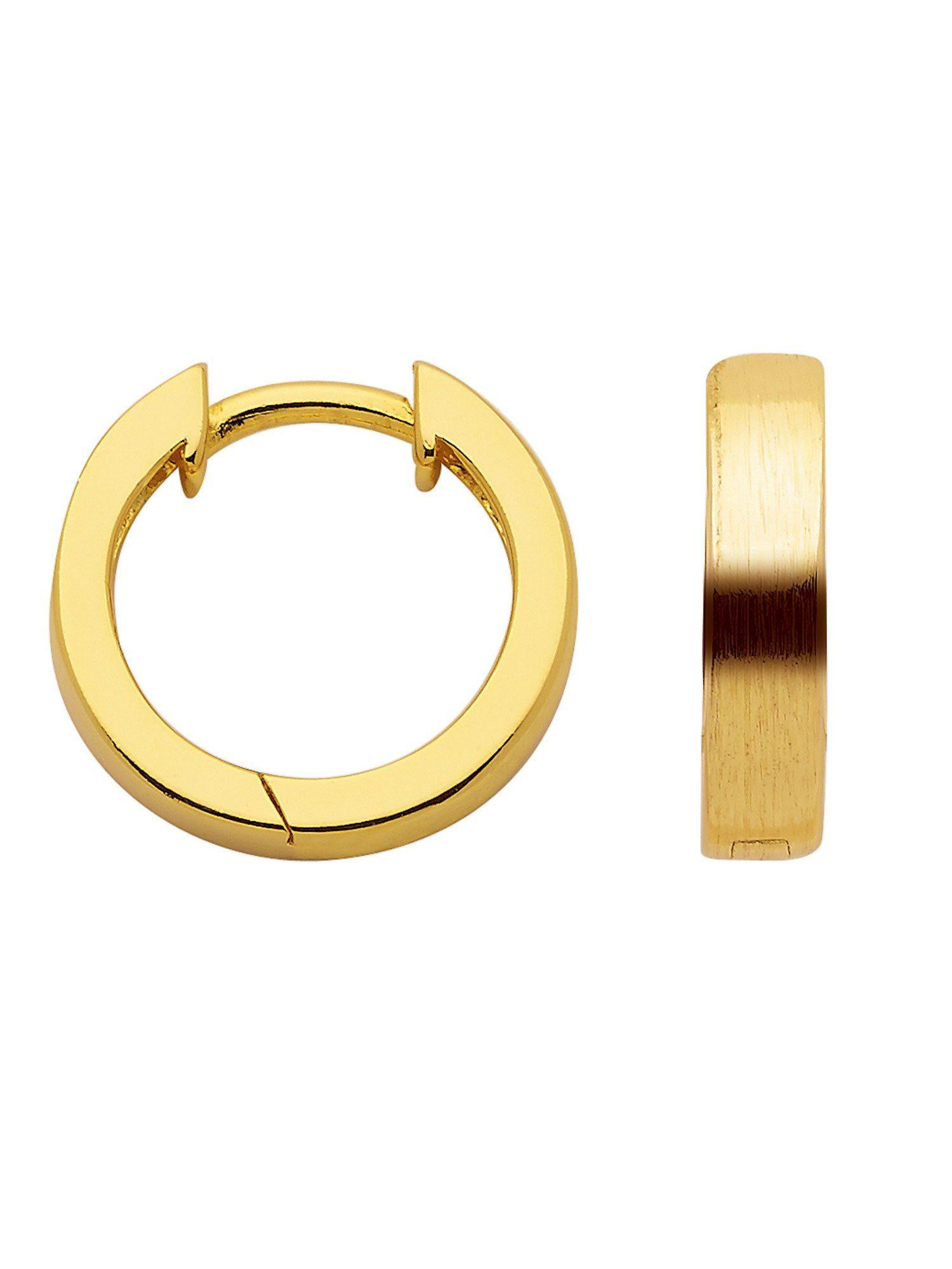Adelia´s Paar Creolen »Silber Ohrringe« 925 Sterling Silber vergoldet Ø 1.38 cm