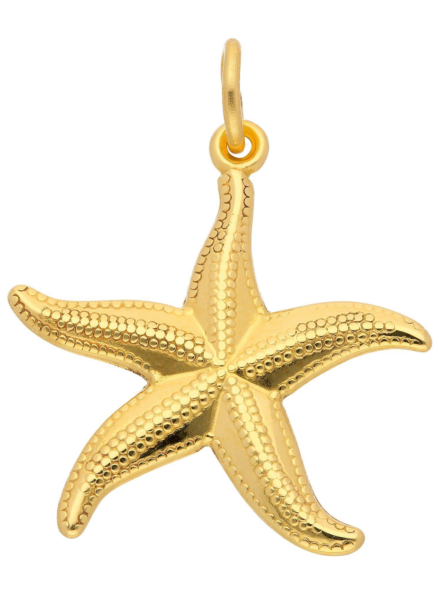 Adelia´s Kettenanhänger »Gold Anhänger« Seestern 8 k 333 Gelbgold