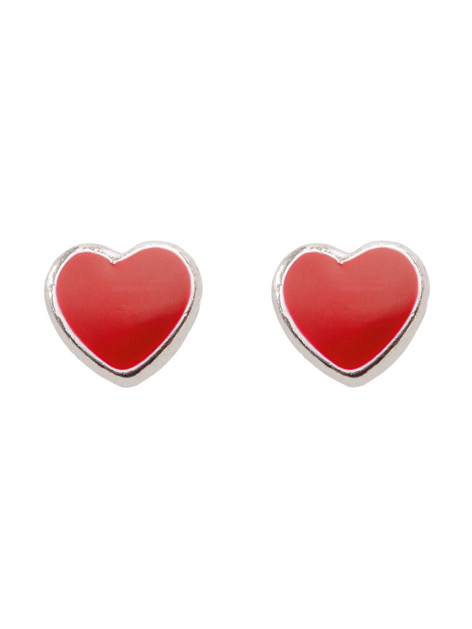 Adelia´s Paar Ohrstecker »Silber Ohrringe« Herz 925 Sterling Silber