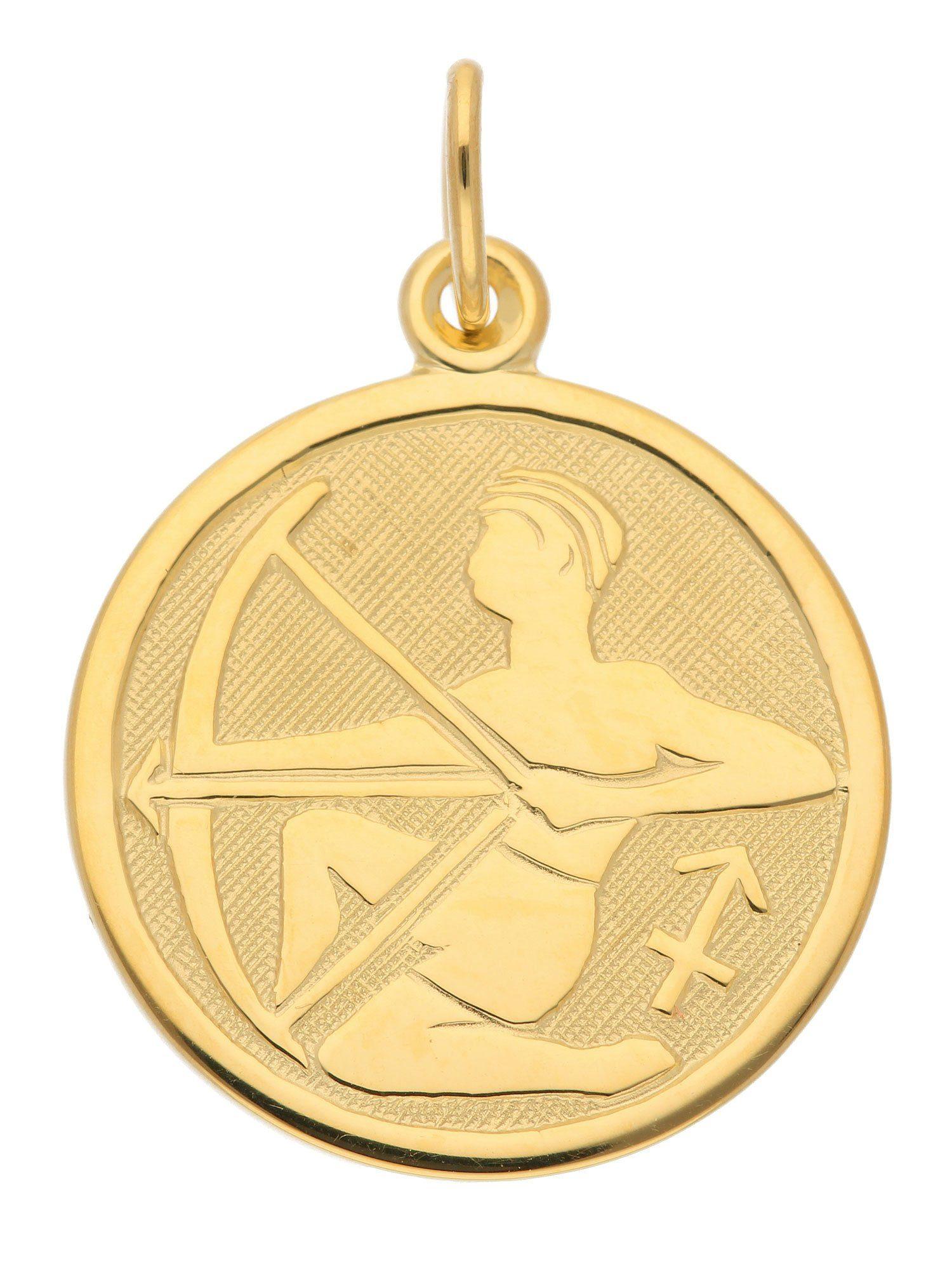 Adelia´s Kettenanhänger »Sternzeichen Gold Anhänger« Schütze 8 k 333 Gelbgold Ø 1.6 cm