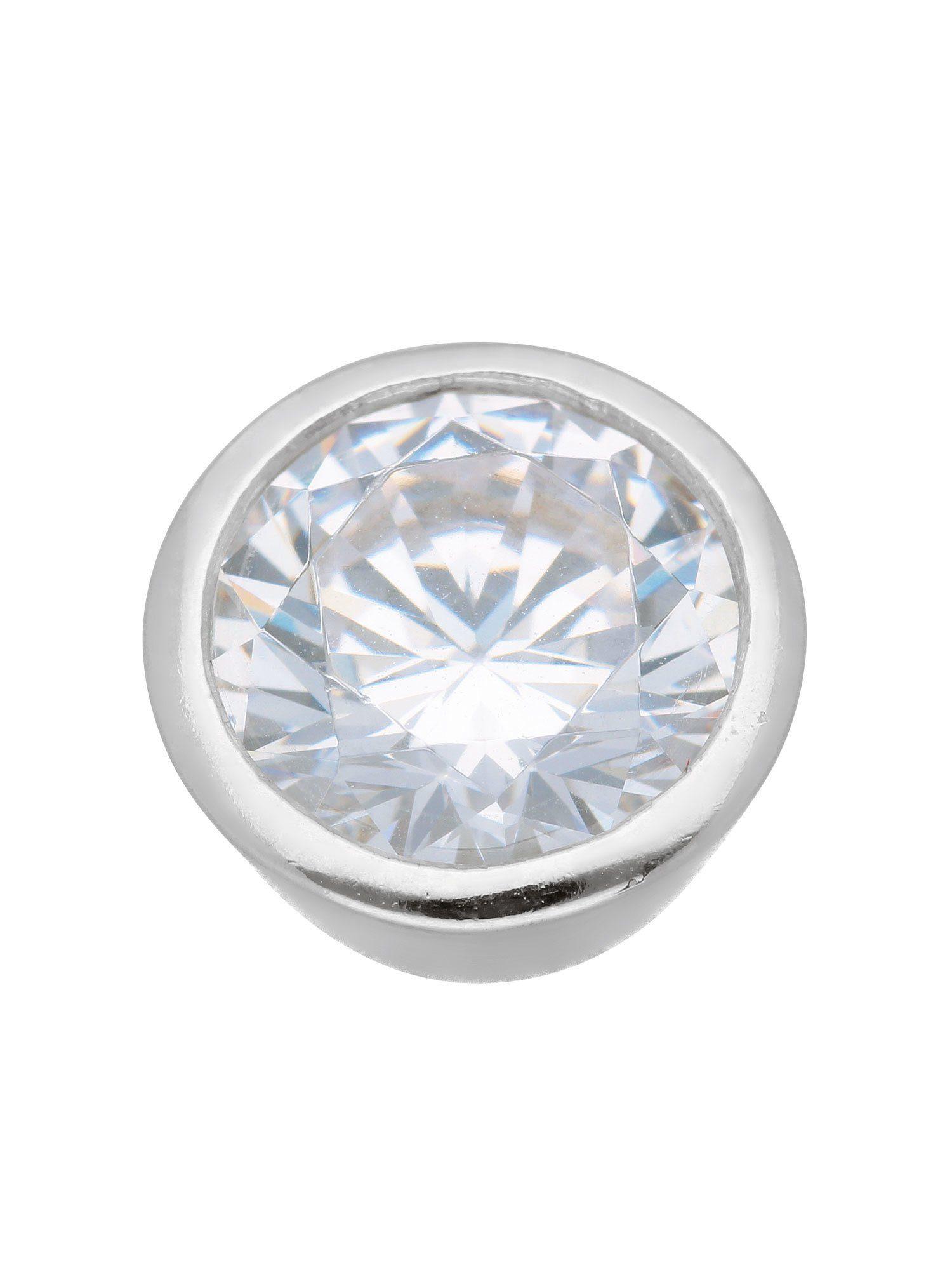 Adelia´s Kettenanhänger »Silber Anhänger«, 925 Sterling Silber mit Zirkonia Ø 1.02 cm