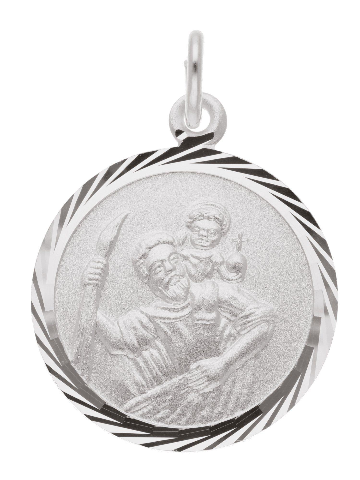 Adelia´s Kettenanhänger »Silber Anhänger« Christophorus 925 Sterling Silber Ø 1.6 cm