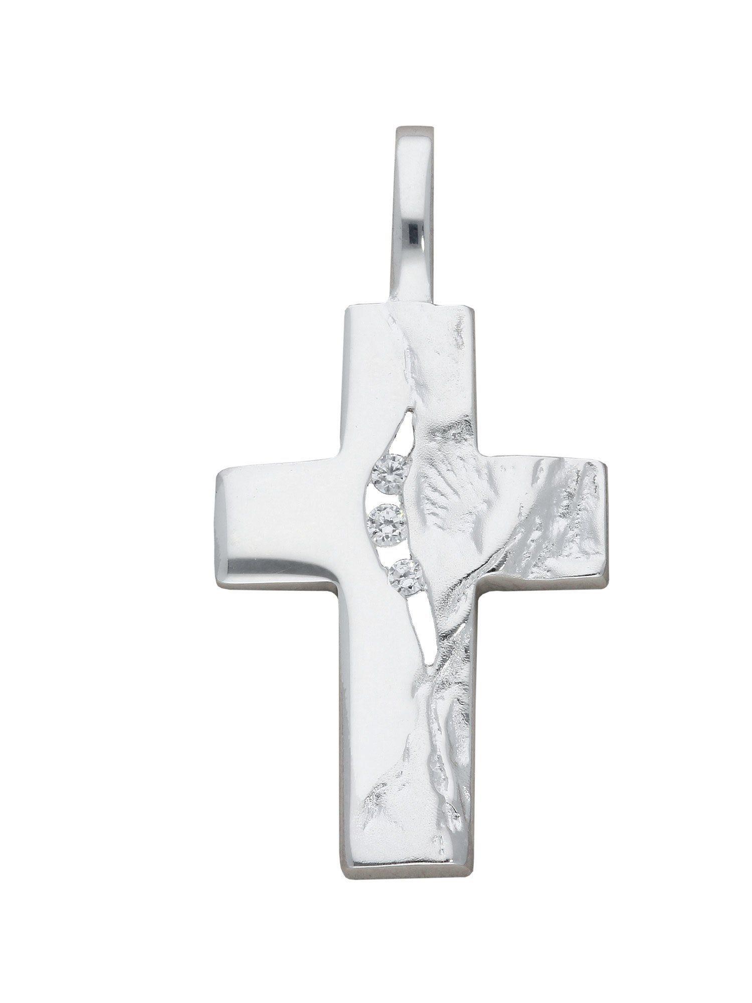 Adelia´s Kettenanhänger »Silber Anhänger« 925 Sterling Silber mit Zirkonia