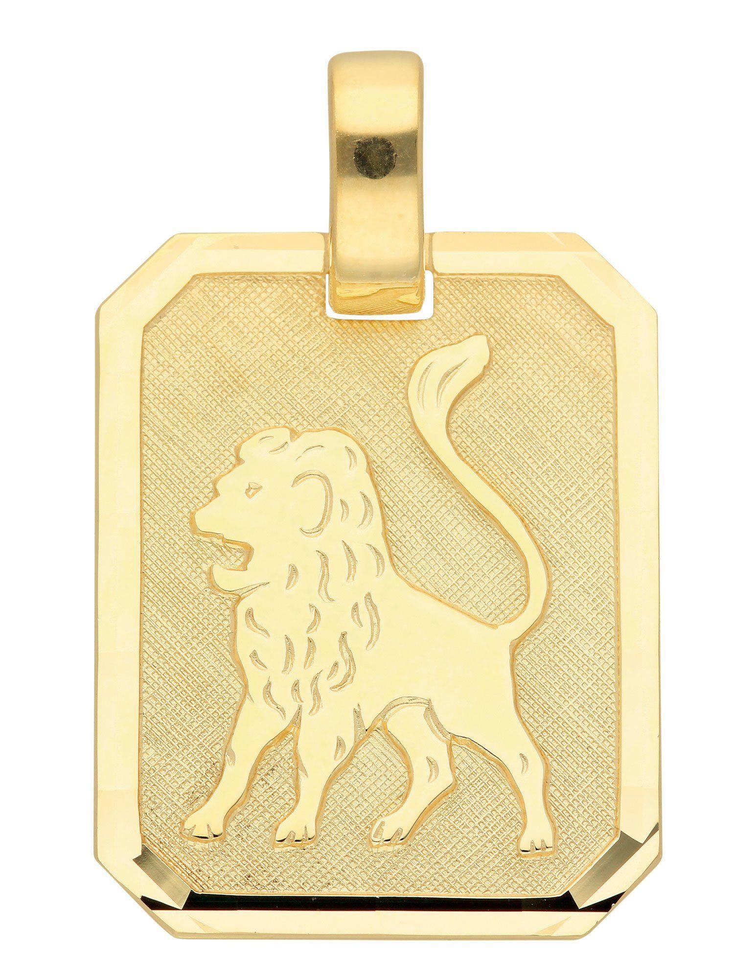 Adelia´s Kettenanhänger »Sternzeichen Gold Anhänger« Löwe 8 k 333 Gelbgold