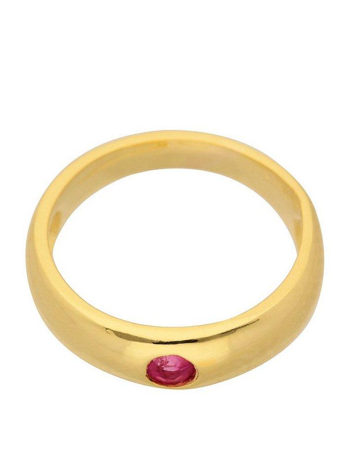 Adelia´s Kettenanhänger »Gold 8 k (333) Motiv - Anhänger« Taufring 8 k 333 Gelbgold mit Rubin Ø 1.12 cm | Schmuck > Halsketten > Ketten ohne Anhänger | Rot | Adelia´s