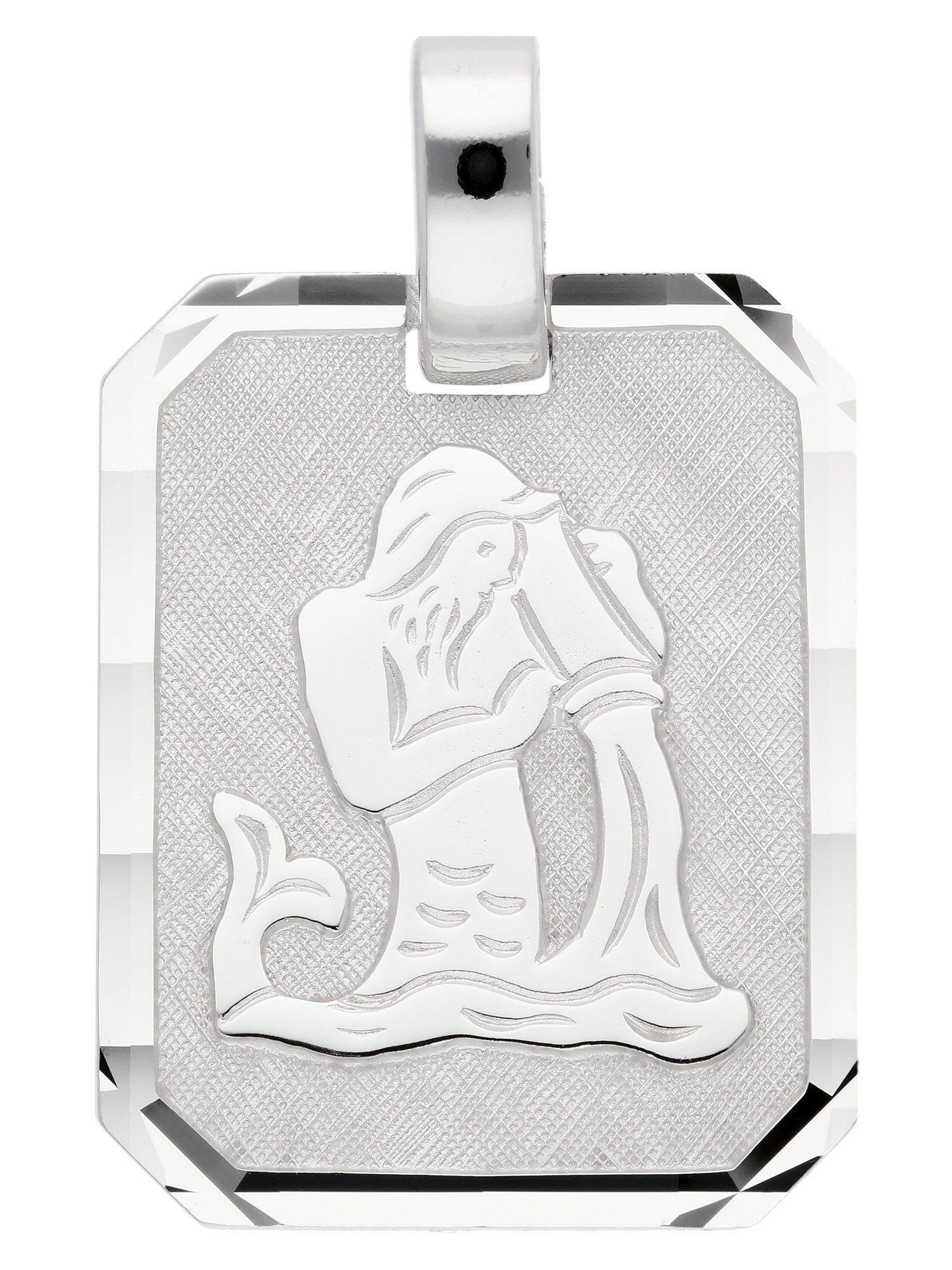 Adelia´s Kettenanhänger »Sternzeichen Silber Anhänger« Wassermann 925 Sterling Silber