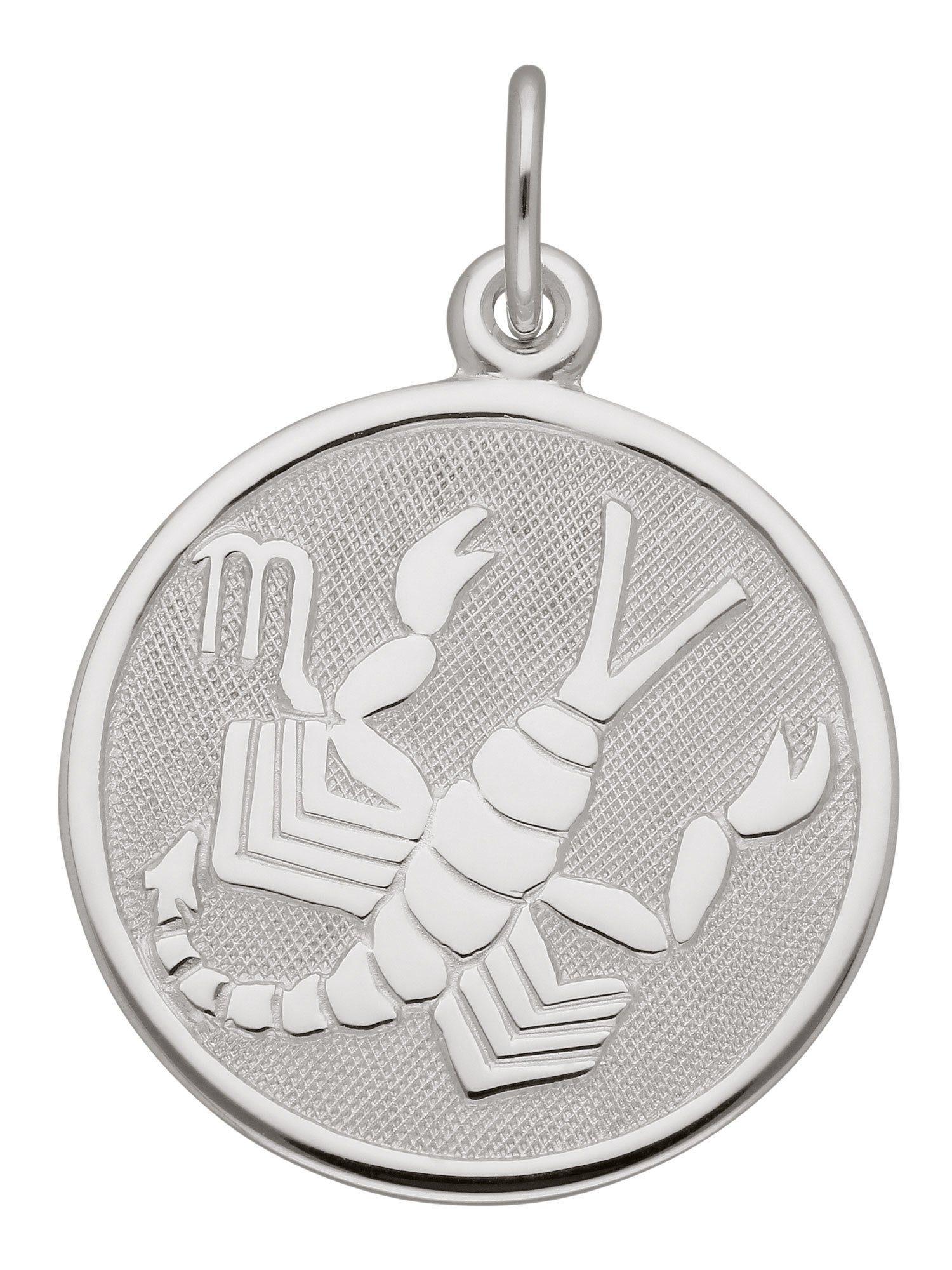 Adelia´s Kettenanhänger »Sternzeichen Silber Anhänger« Skorpion 925 Sterling Silber Ø 1.57 cm