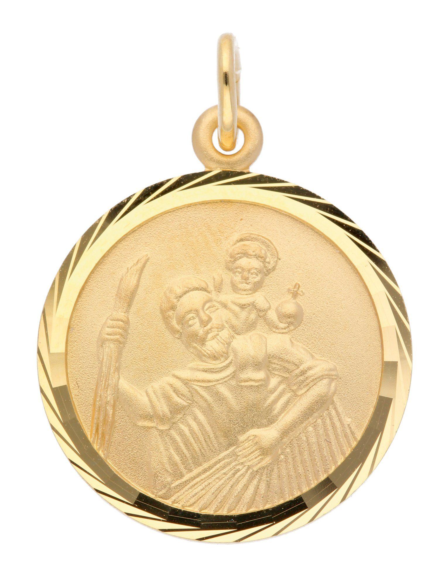 Adelia´s Kettenanhänger »Gold Anhänger« Christophorus 14 k 585 Gelbgold Ø 1.6 cm