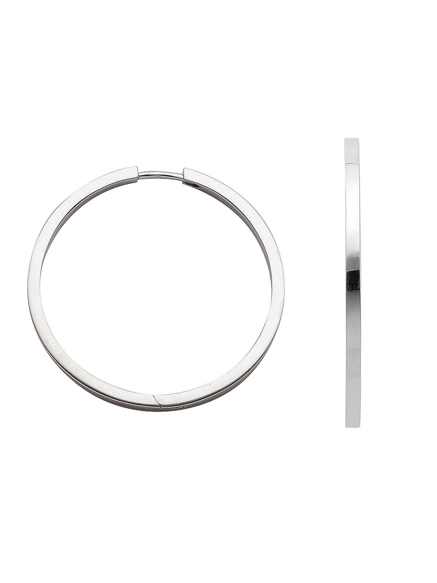 Adelia´s Paar Creolen »Silber Ohrringe« 925 Sterling Silber Ø 3.28 cm