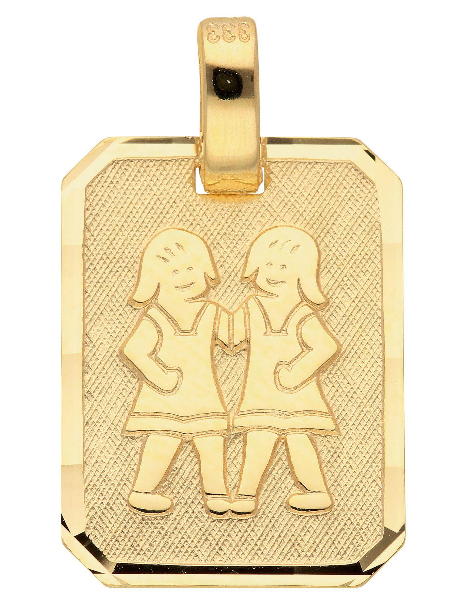 Adelia´s Kettenanhänger »Sternzeichen Gold Anhänger« Zwilling 8 k 333 Gelbgold