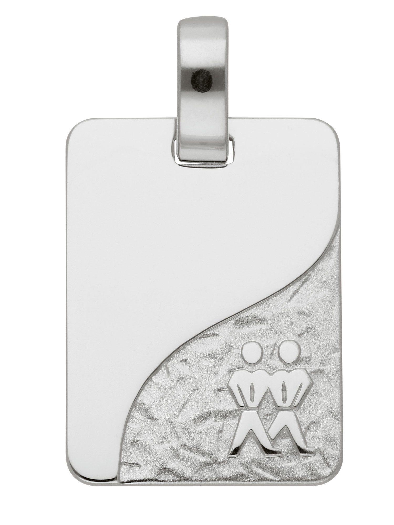 Adelia´s Kettenanhänger »Sternzeichen Silber Anhänger« Zwilling 925 Sterling Silber