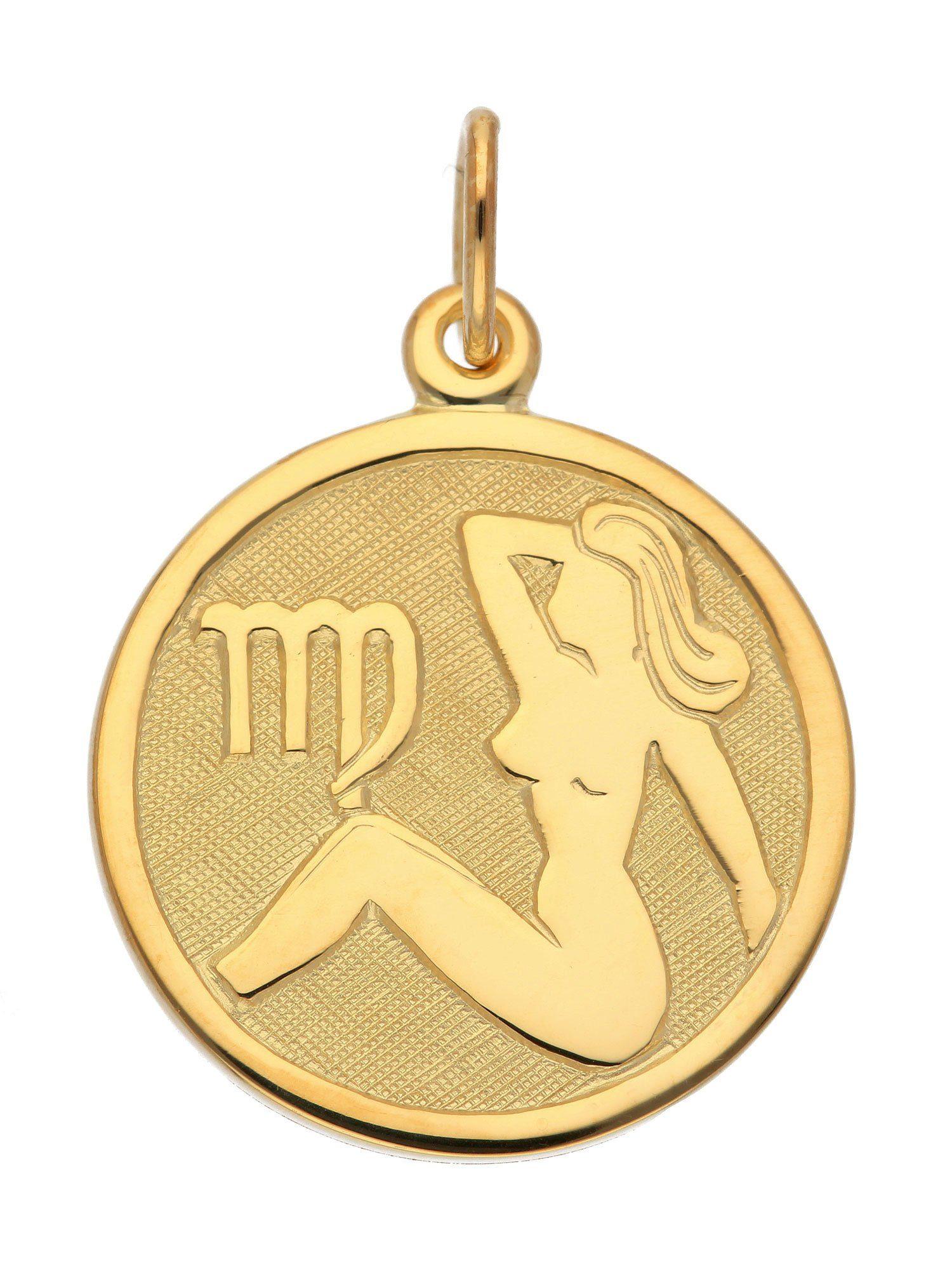 Adelia´s Kettenanhänger »Sternzeichen Gold Anhänger« Jungfrau 8 k 333 Gelbgold Ø 1.6 cm