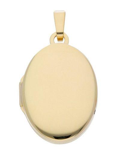 Adelia´s Kettenanhänger »Gold 8 k (333) Medaillon Anhänger«, 8 k 333 Gelbgold