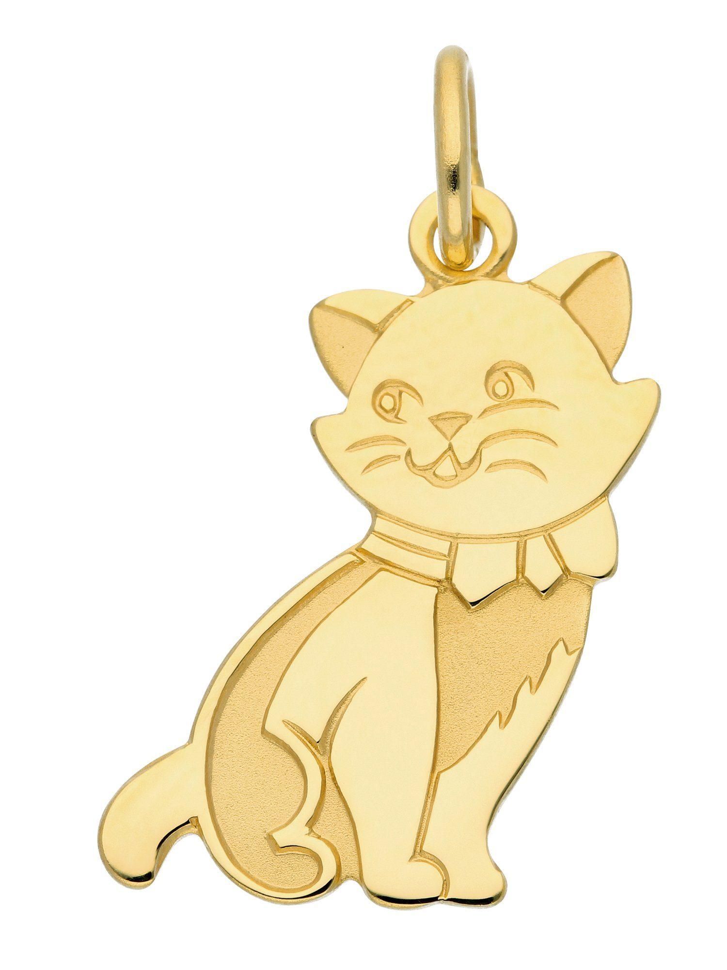 Adelia´s Kettenanhänger »Gold Anhänger« Katze 8 k 333 Gelbgold
