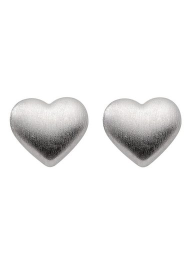 Adelia´s Paar Ohrstecker »Silber 925 Sterling Silver Ohrringe - Ohrstecker«, Herz 925 Sterling Silber
