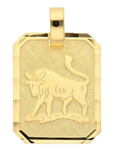 Adelia´s Kettenanhänger »Gold 8 k (333) Sternzeichen Anhänger« Stier 8 k 333 Gelbgold