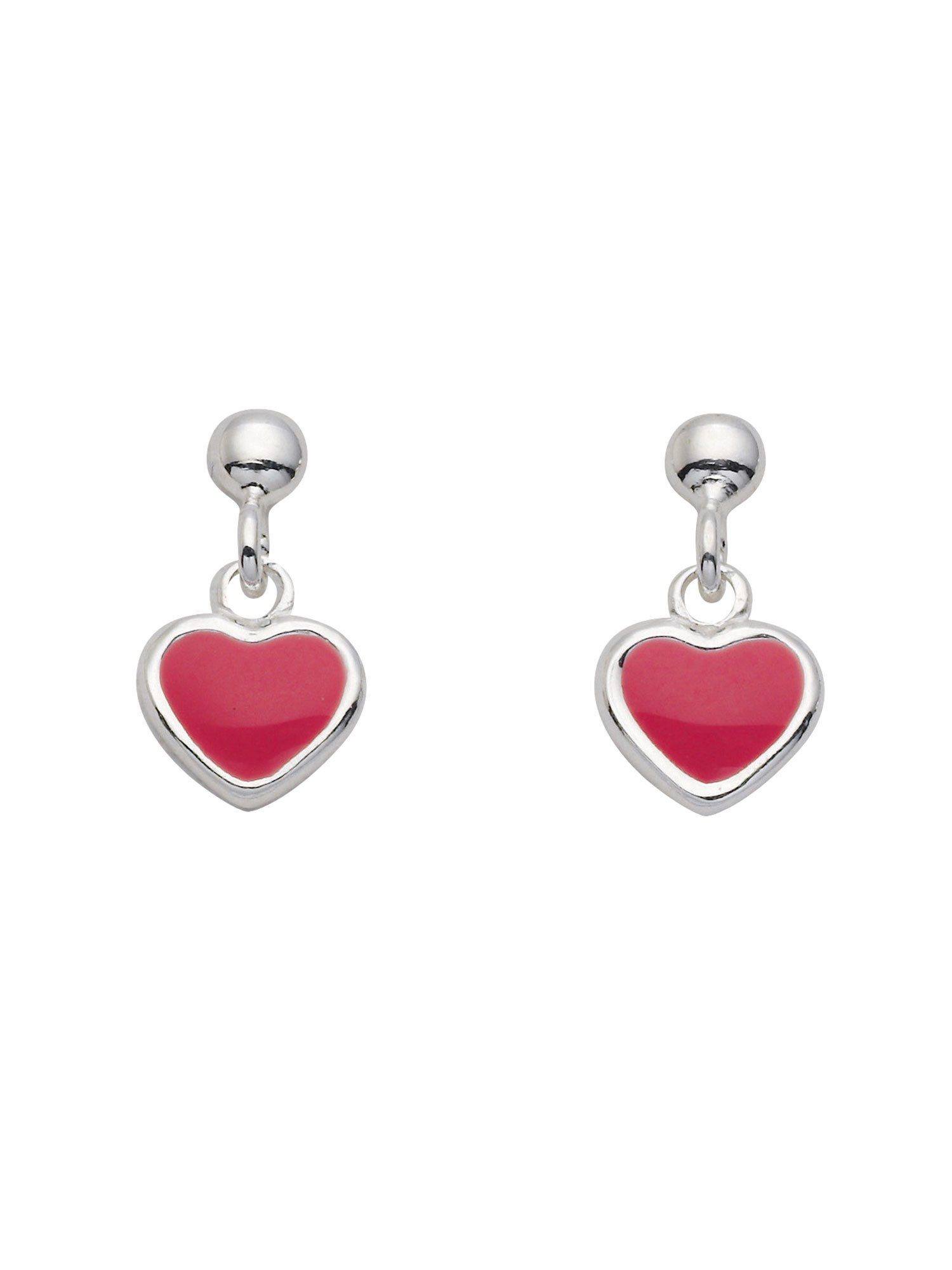 Adelia´s Paar Ohrhänger »Silber 925 Sterling Silver Ohrringe - Ohrhänger« Herz 925 Sterling Silber
