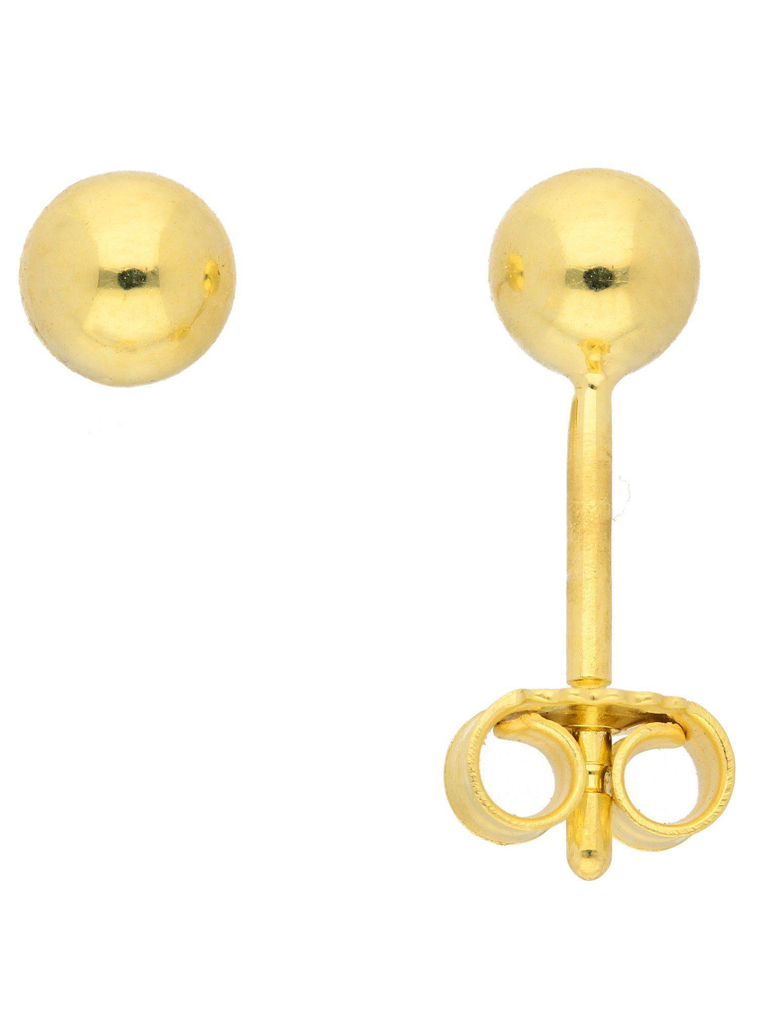 Adelia´s Paar Ohrstecker »Gold Ohrringe« 14 k 585 Gelbgold Ø 4 mm