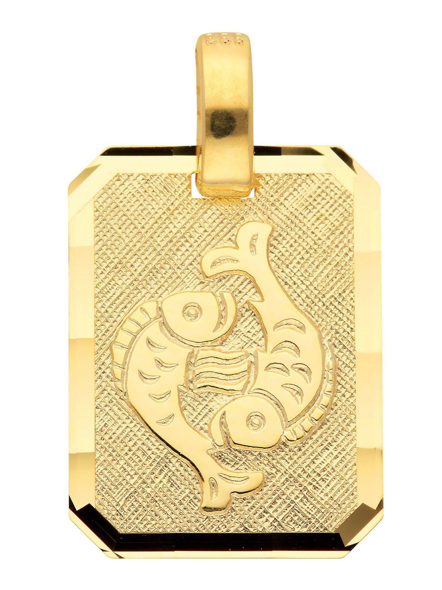 Adelia´s Kettenanhänger »Sternzeichen Gold Anhänger« Fisch 8 k 333 Gelbgold