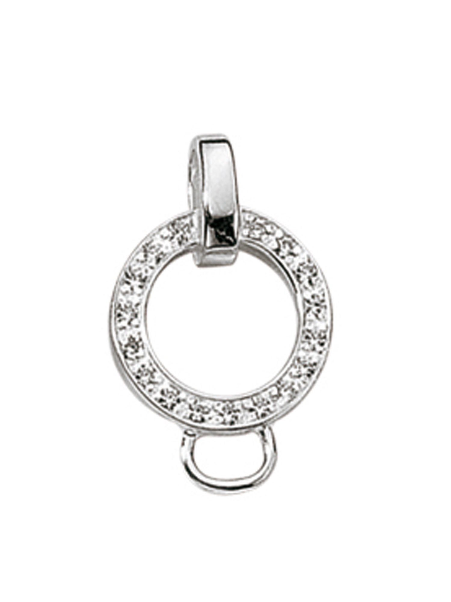 Adelia´s Charm-Einhänger »Silber 925 Sterling Silver Charms - Träger« 925 Sterling Silber mit Zirkonia