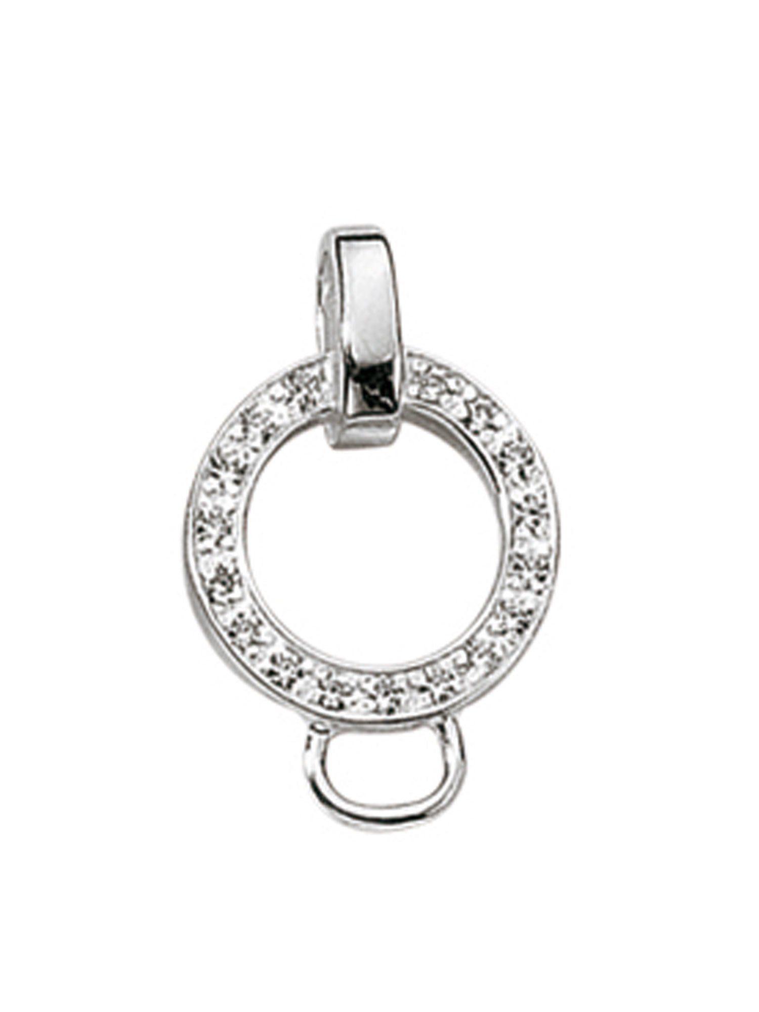 Adelia´s Charm-Einhänger »Charm Anhänger« 925 Sterling Silber mit Zirkonia