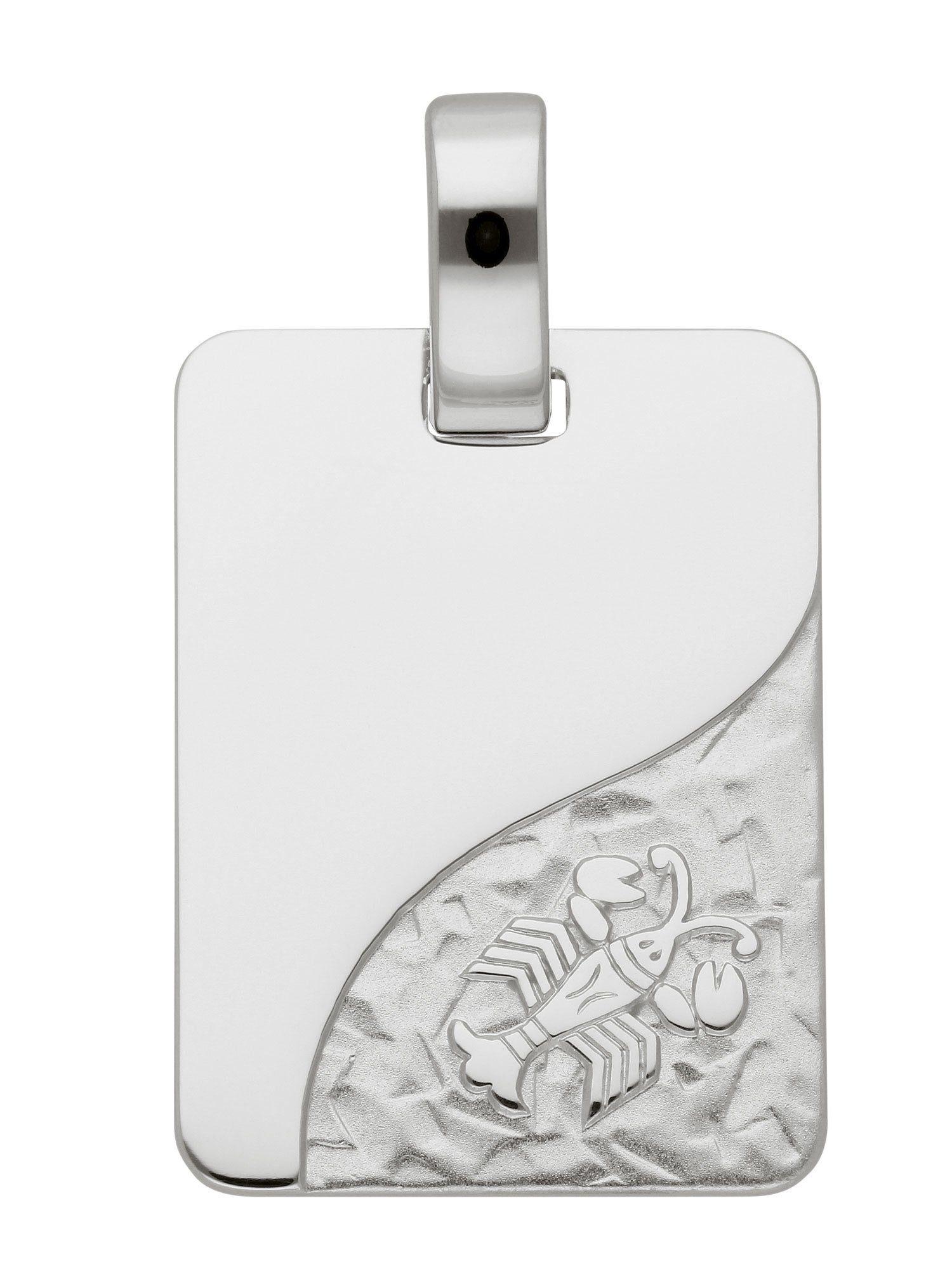 Adelia´s Kettenanhänger »Sternzeichen Silber Anhänger« Krebs 925 Sterling Silber