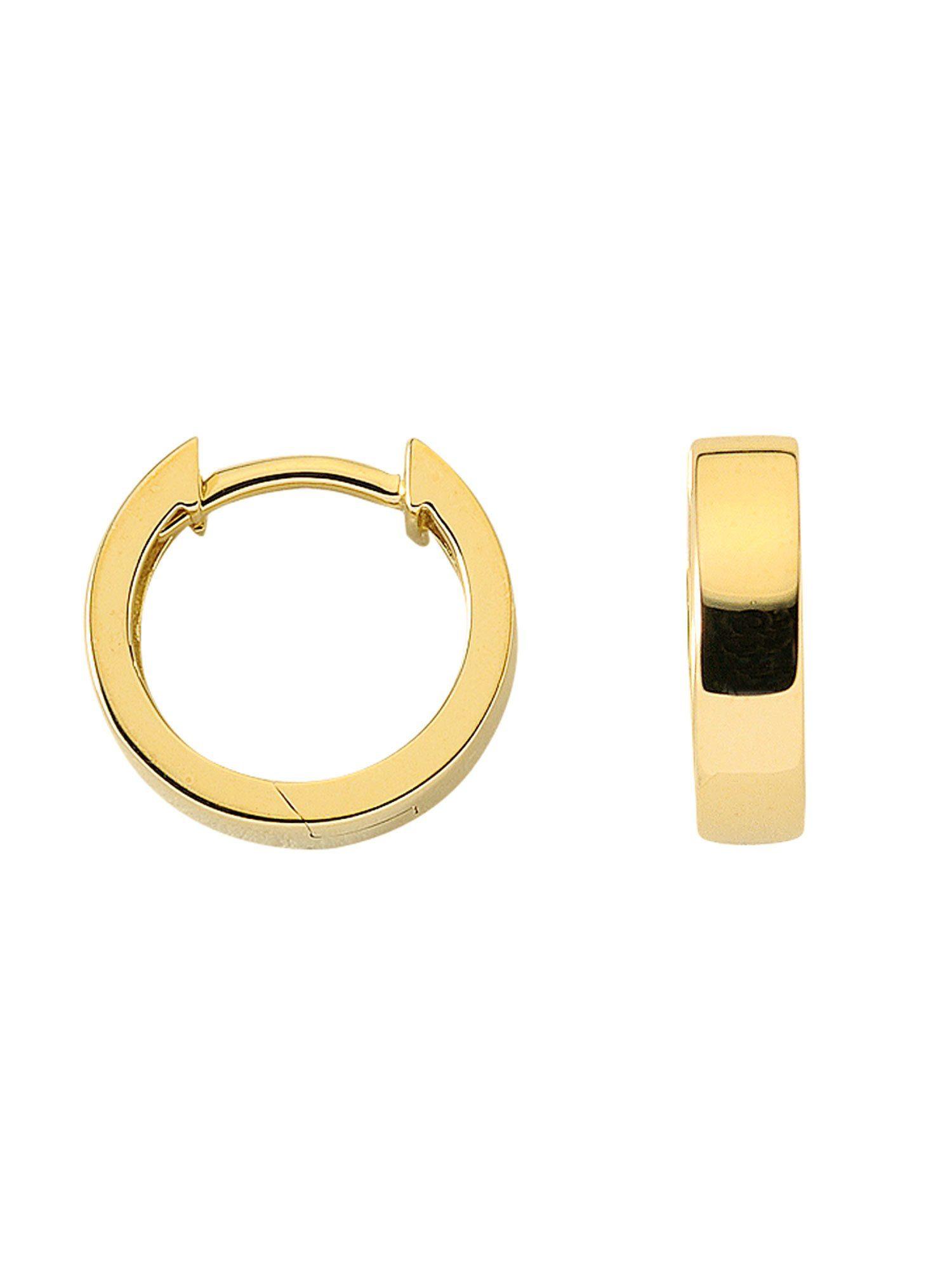 Adelia´s Paar Creolen »Gold 8 k (333) Ohrringe - Creolen« 8 k 333 Gelbgold Ø 1.16 cm