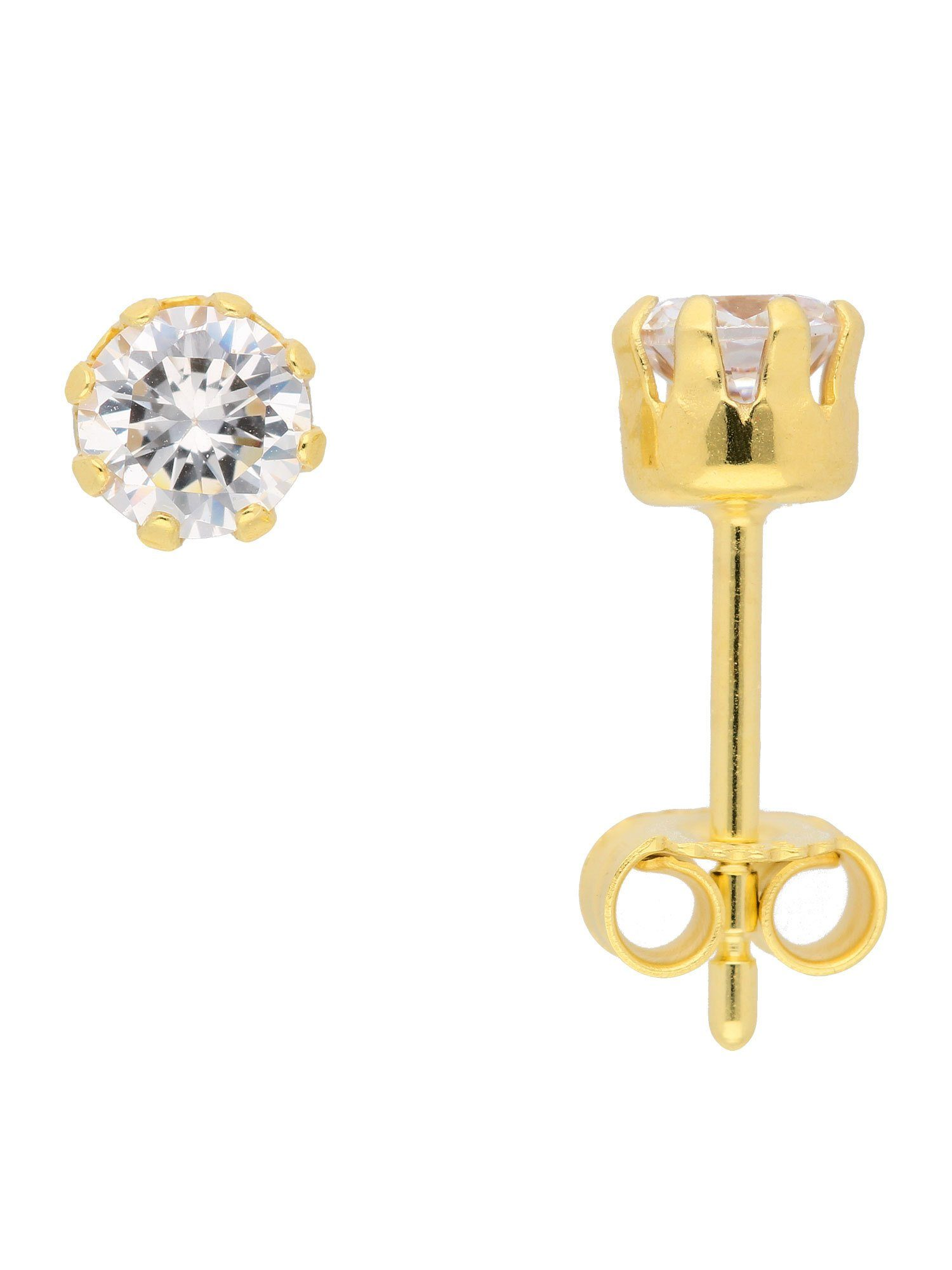 Adelia´s Paar Ohrstecker »Gold Ohrringe« 8 k 333 Gelbgold mit Zirkonia Ø 5 mm