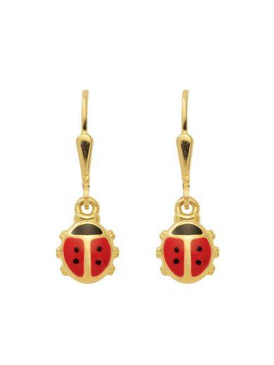 Adelia´s Paar Ohrhänger »Gold 8 k (333) Ohrringe - Ohrhänger«, Marienkäfer 8 k 333 Gelbgold