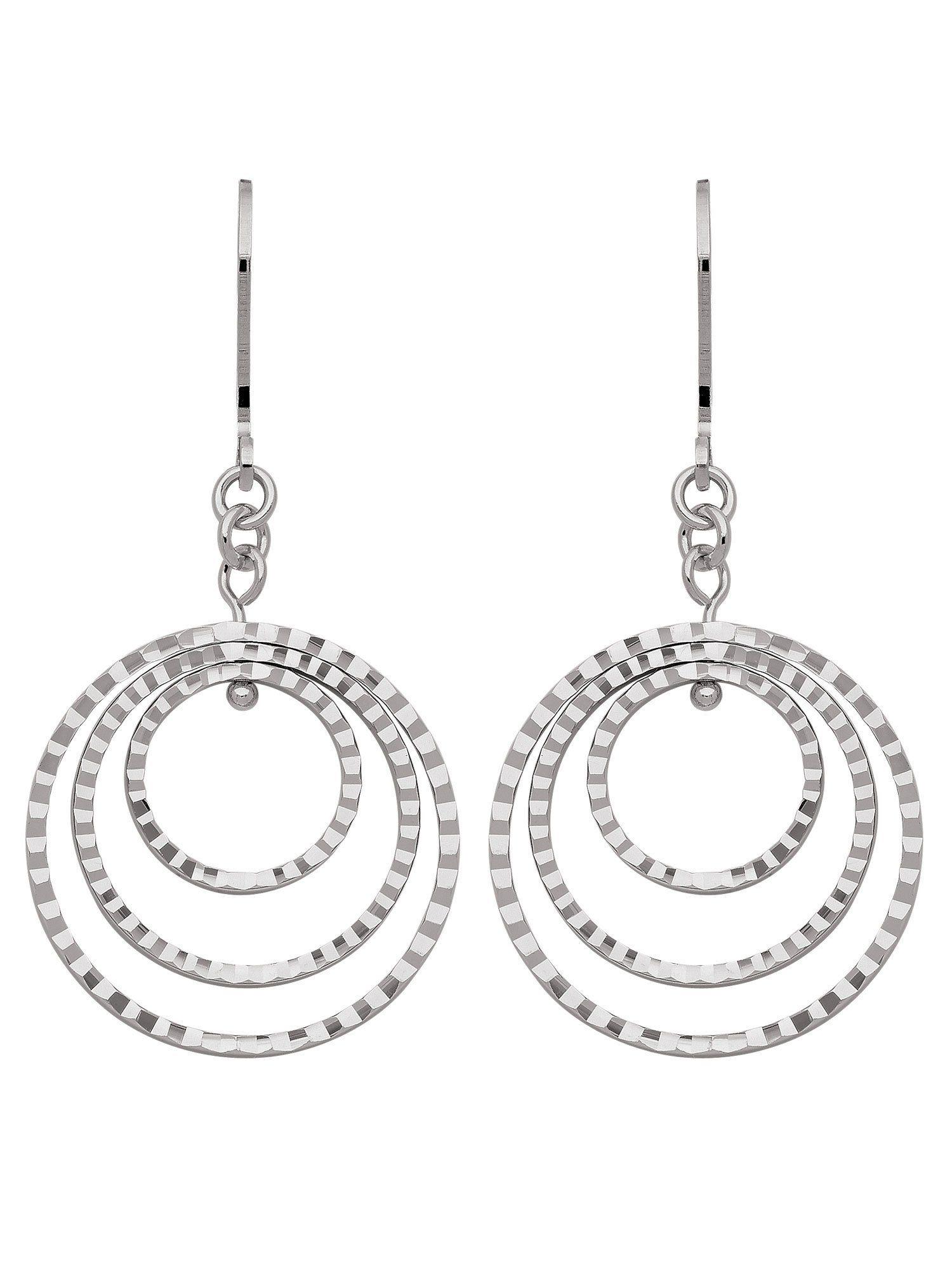Adelia´s Paar Ohrhänger »Silber 925 Sterling Silver Ohrringe - Ohrhänger« 925 Sterling Silber Ø 2.21 cm