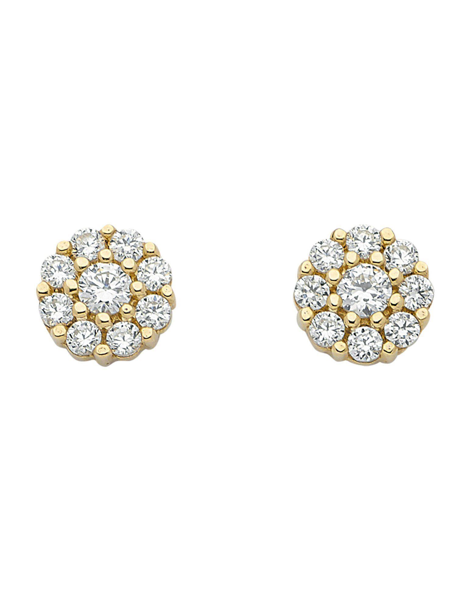 Adelia´s Paar Ohrstecker »Gold Ohrringe« 8 k 333 Gelbgold mit Zirkonia