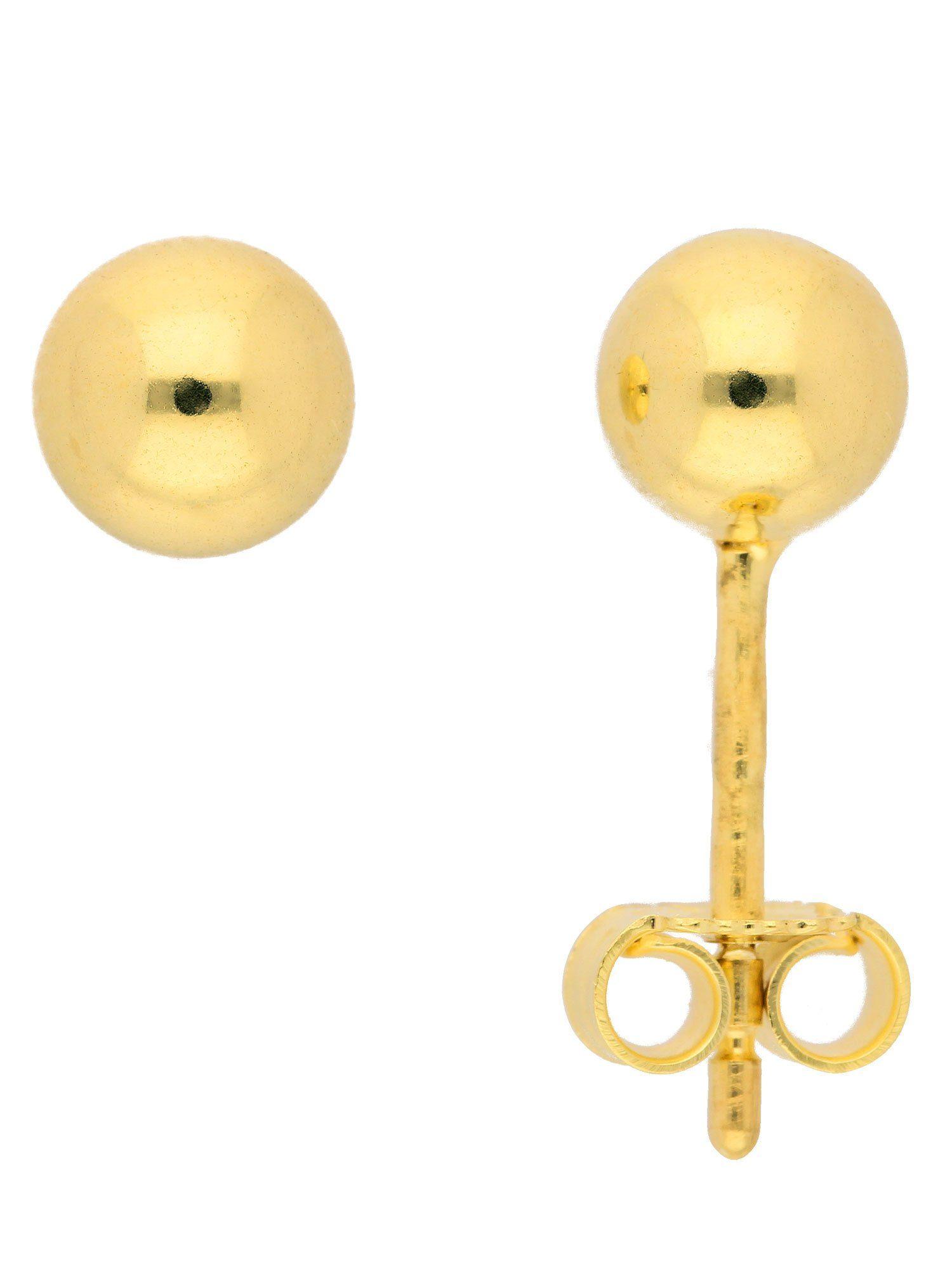 Adelia´s Paar Ohrstecker »Gold Ohrringe« 14 k 585 Gelbgold Ø 5 mm