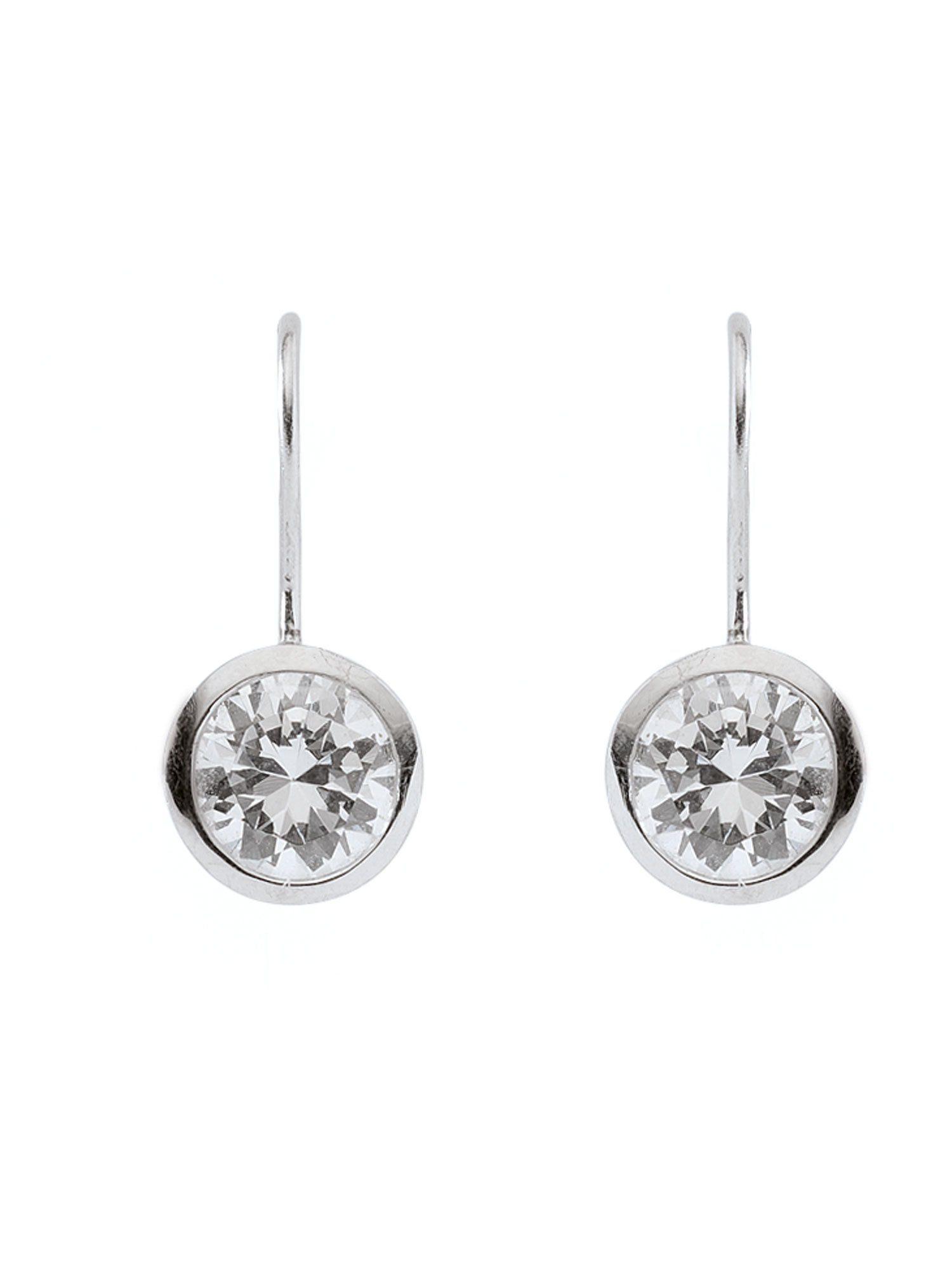 Adelia´s Paar Ohrhänger »Silber Ohrringe« 925 Sterling Silber mit Zirkonia Ø 9.8 mm