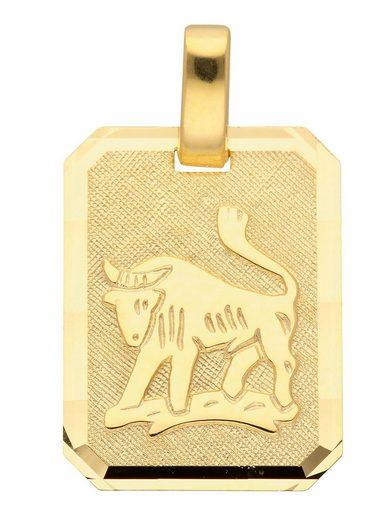 Adelia´s Kettenanhänger »Gold 8 k (333) Sternzeichen Anhänger«, Stier 8 k 333 Gelbgold
