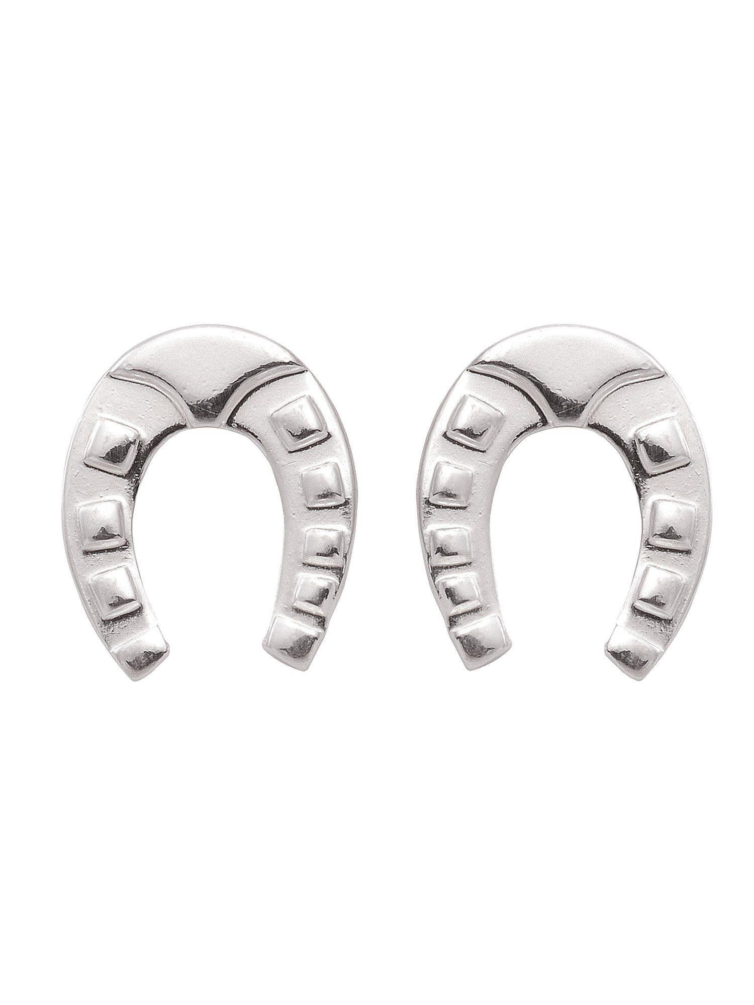 Adelia´s Paar Ohrstecker »Silber Ohrringe« Hufeisen 925 Sterling Silber