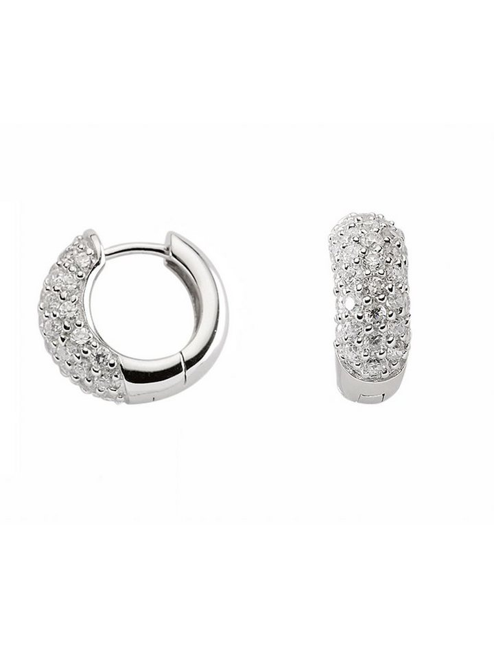 Adelia´s Paar Creolen »Silber 925 Sterling Silver Ohrringe - Creolen« 925 Sterling Silber mit Zirkonia Ø 1.61 cm | Schmuck > Ohrschmuck & Ohrringe | Adelia´s